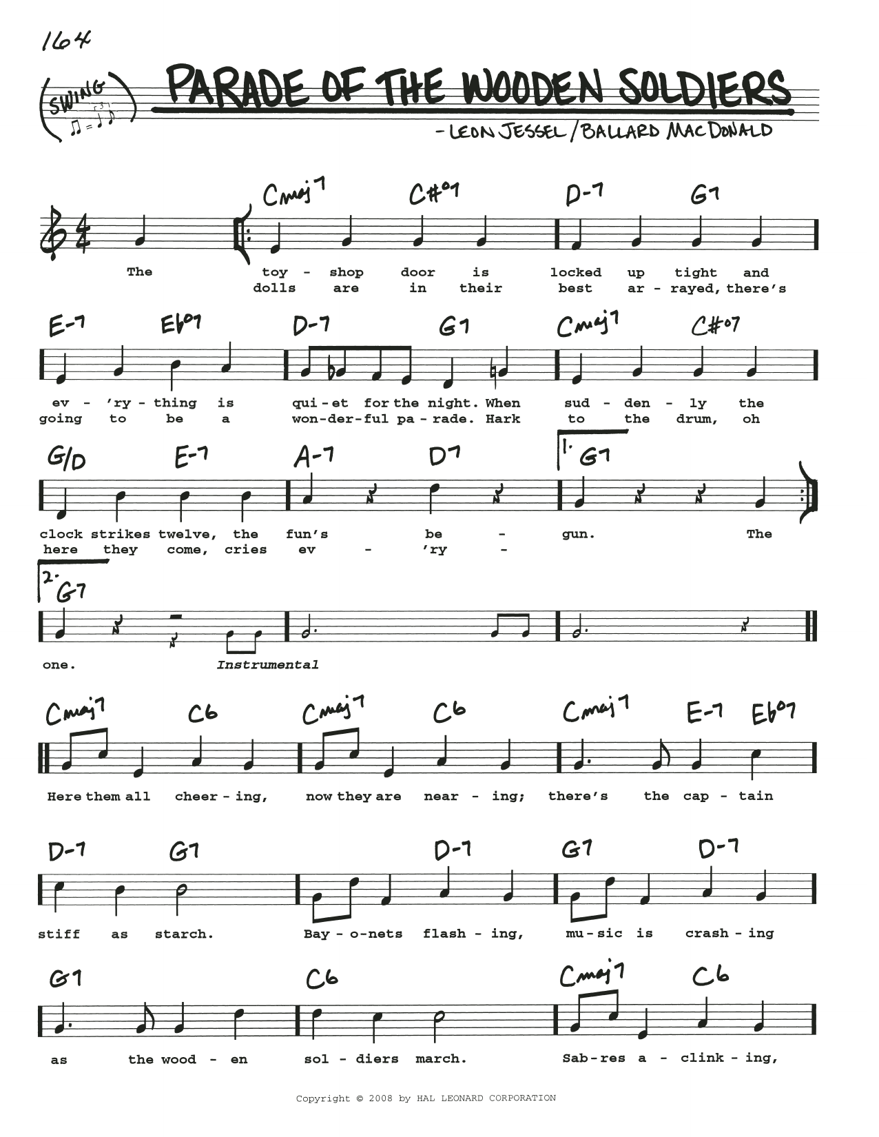 Parade Of The Wooden Soldiers (Real Book – Melody, Lyrics & Chords)