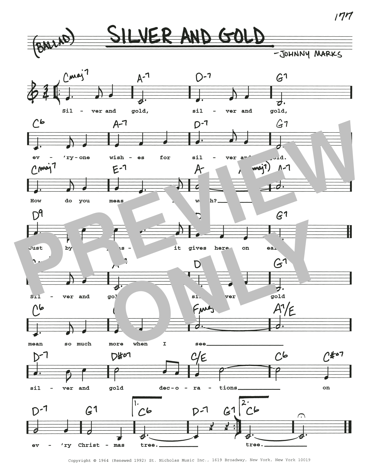 Silver And Gold Sheet Music