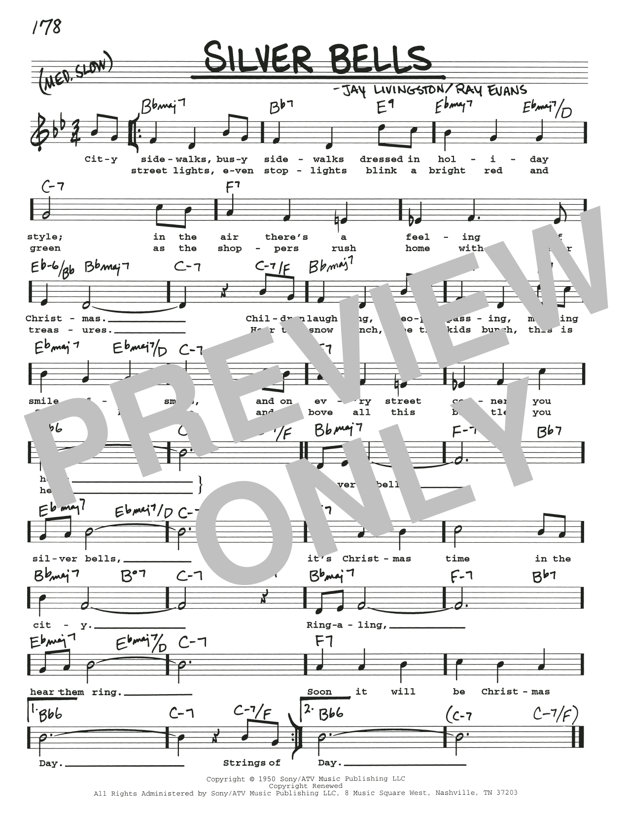 Silver Bells (Real Book – Melody, Lyrics & Chords)