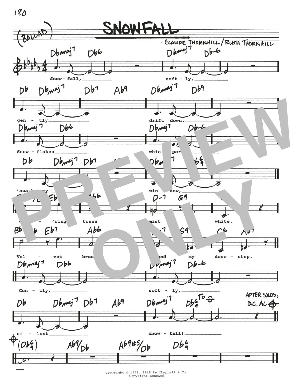 Snowfall Sheet Music