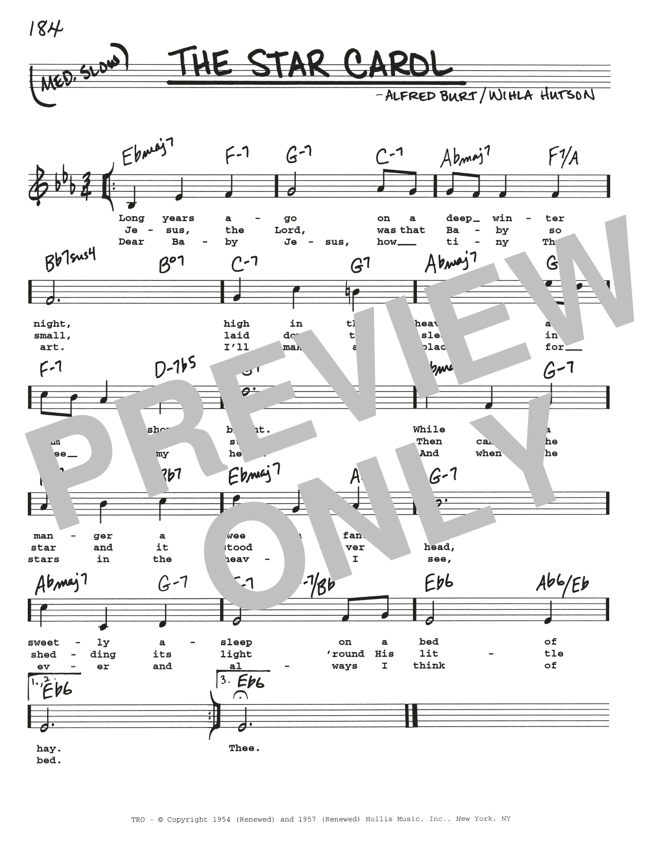 The Star Carol Sheet Music