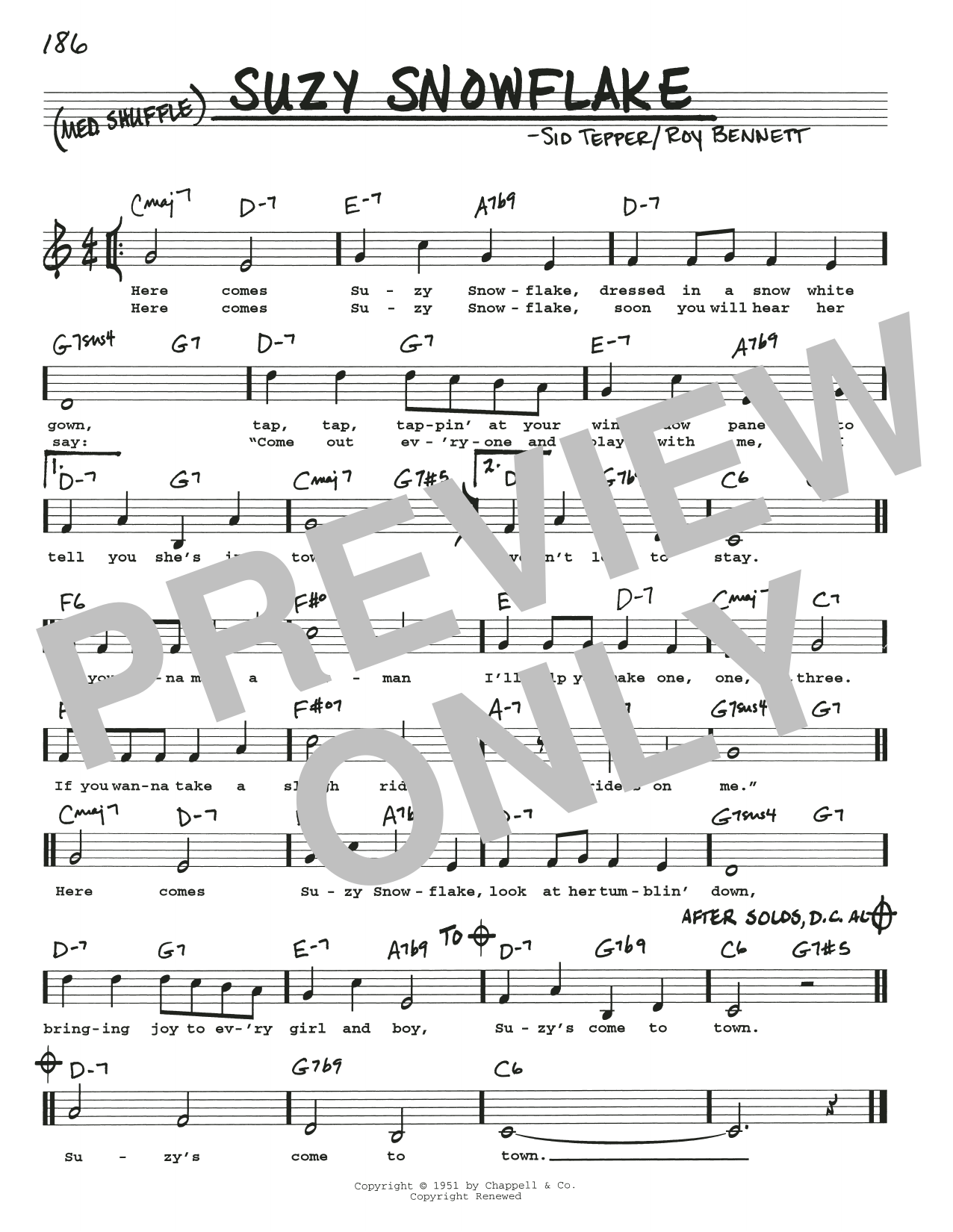 Suzy Snowflake Sheet Music
