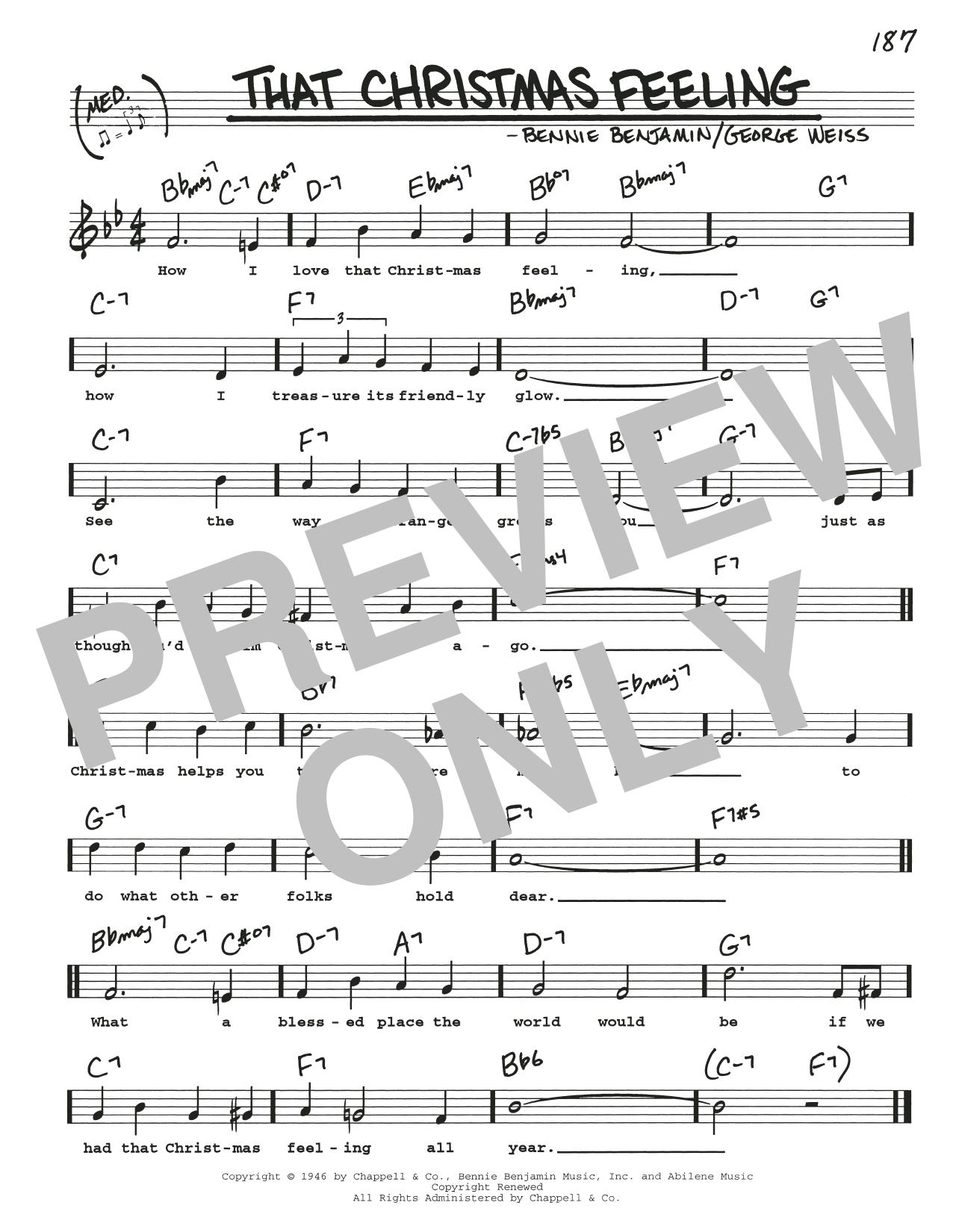 That Christmas Feeling Sheet Music