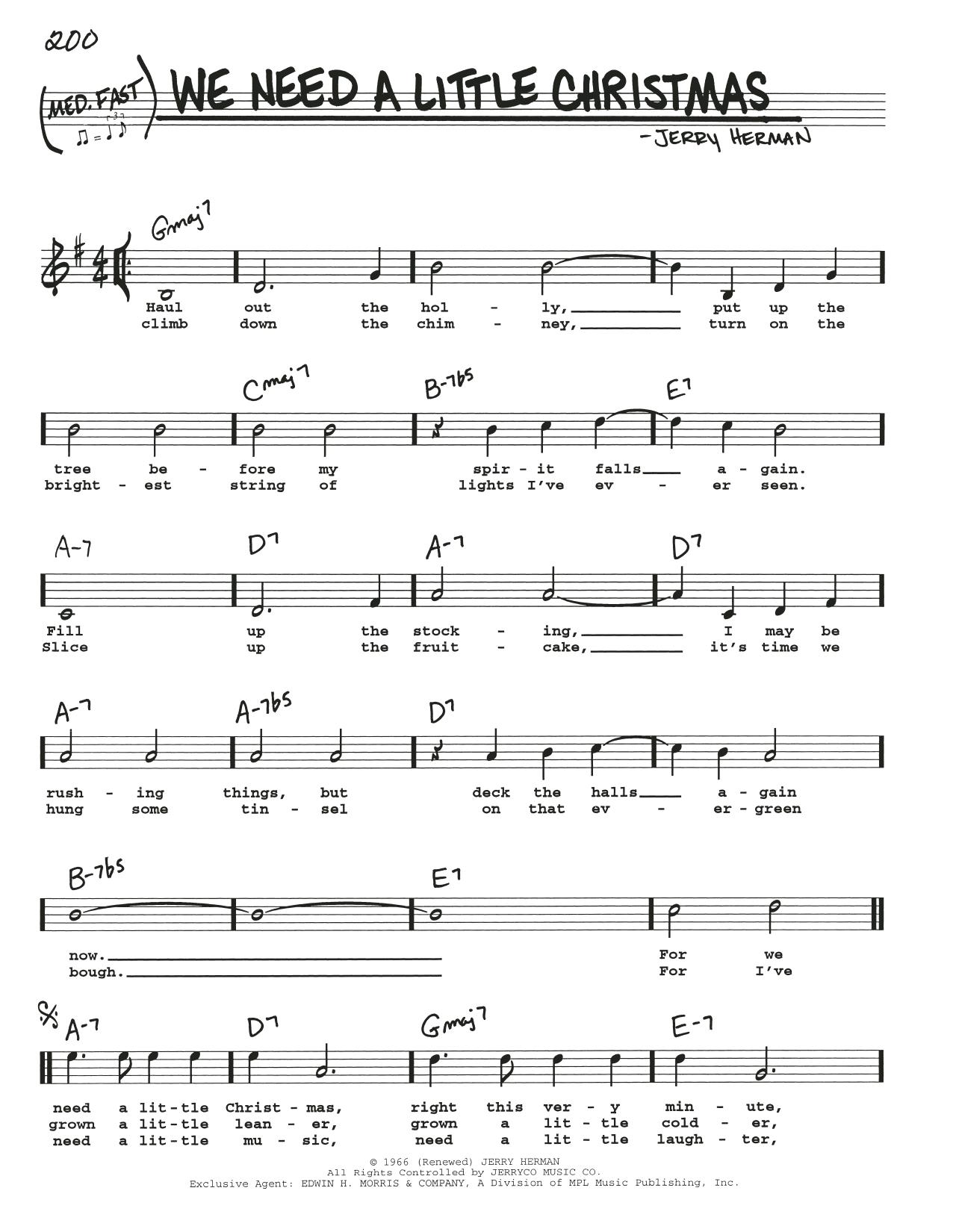 We Need A Little Christmas Sheet Music