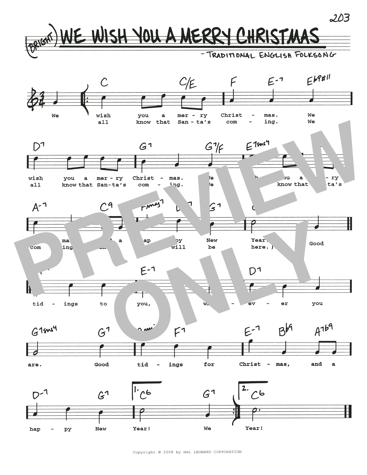 We Wish You A Merry Christmas sheet music by Traditional English ...