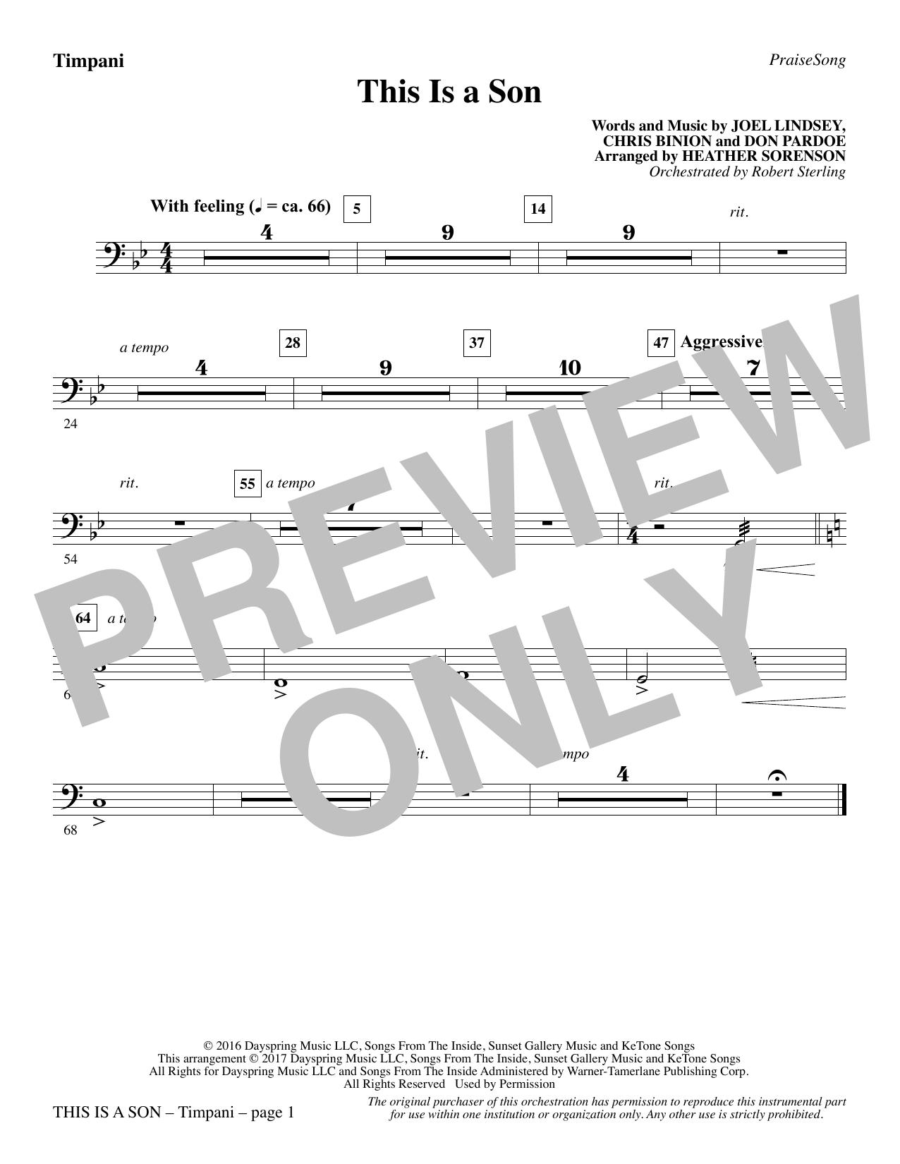 This Is a Son - Timpani Sheet Music