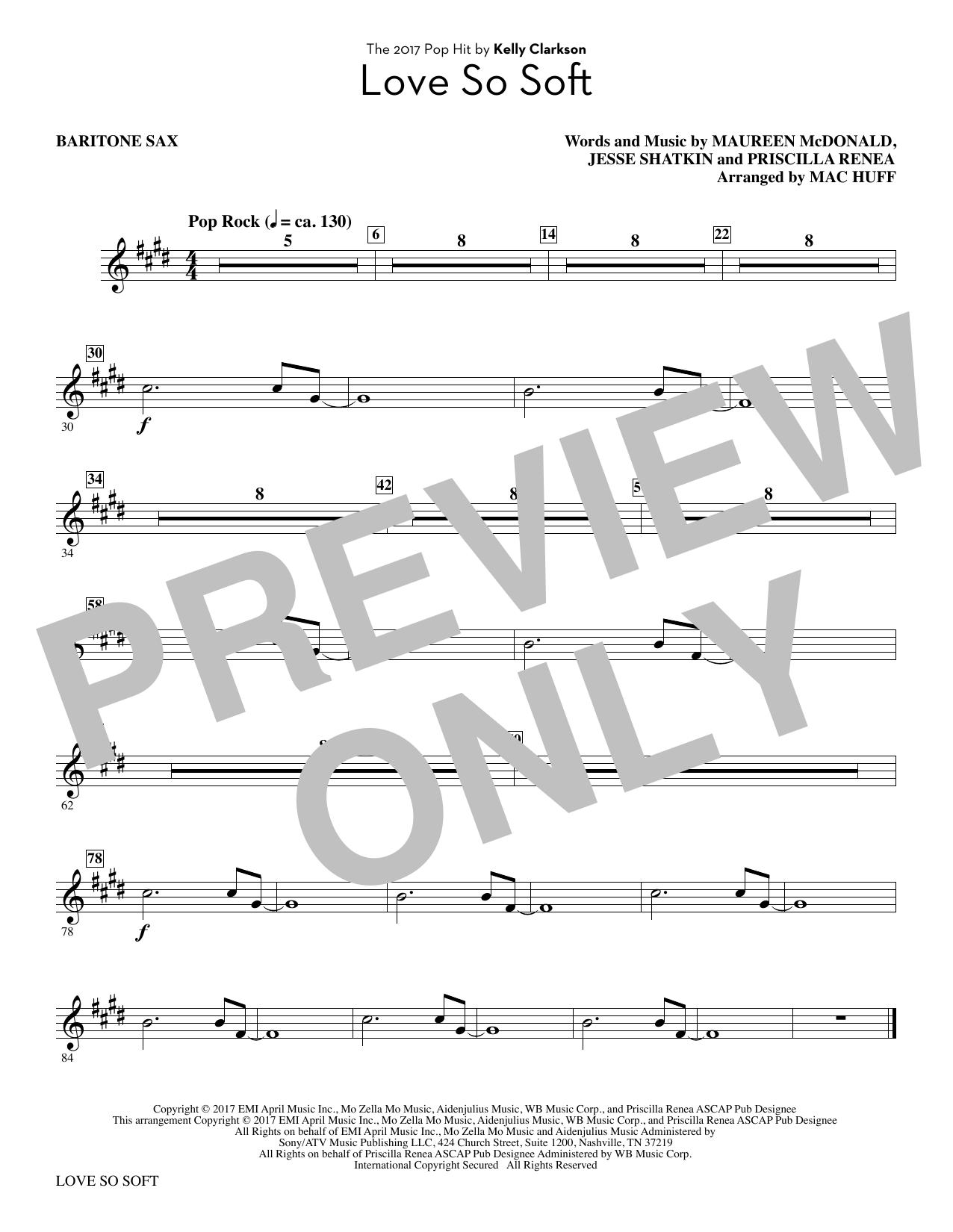 Love So Soft - Baritone Sax (Choir Instrumental Pak)