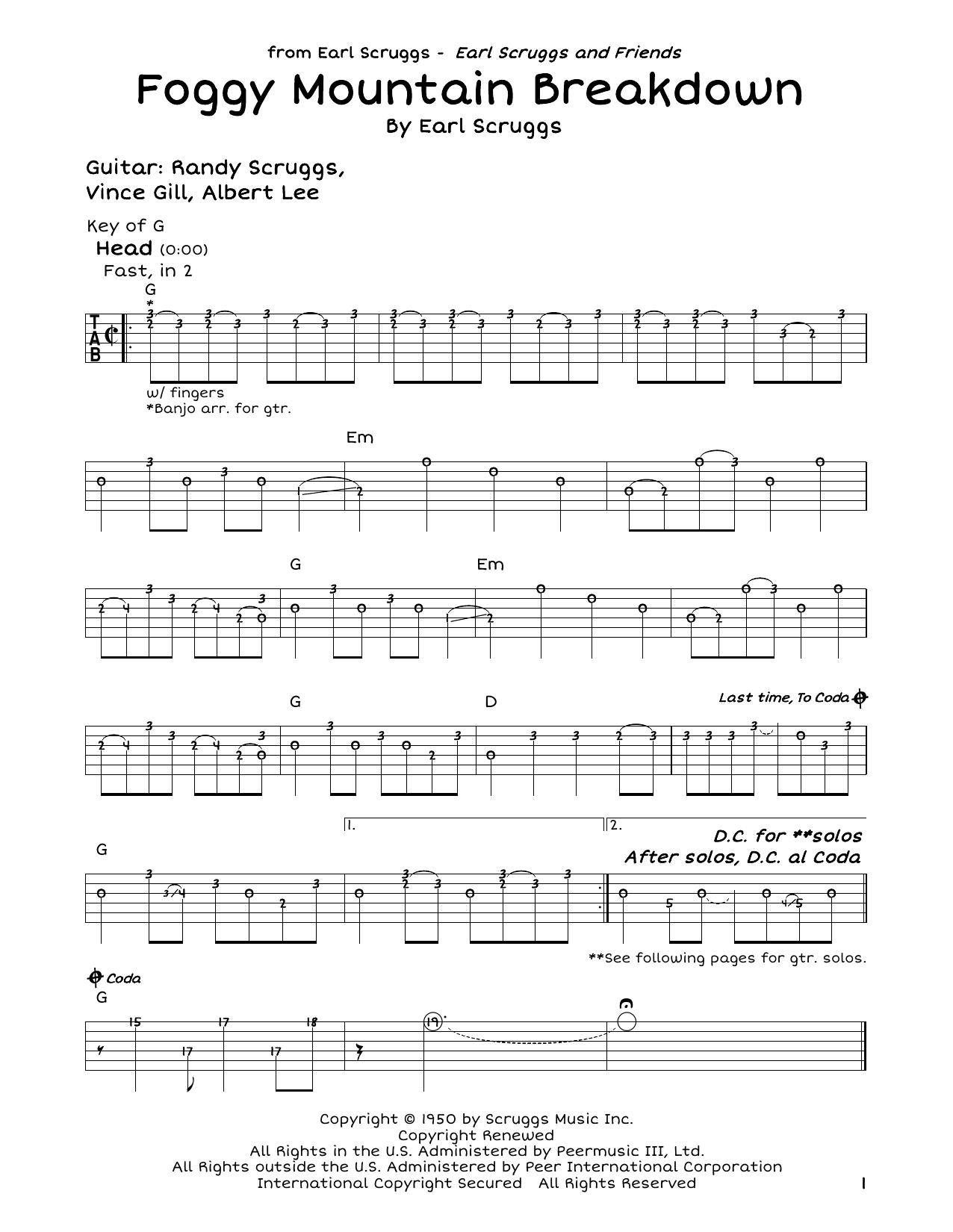 Foggy Mountain Breakdown Sheet Music