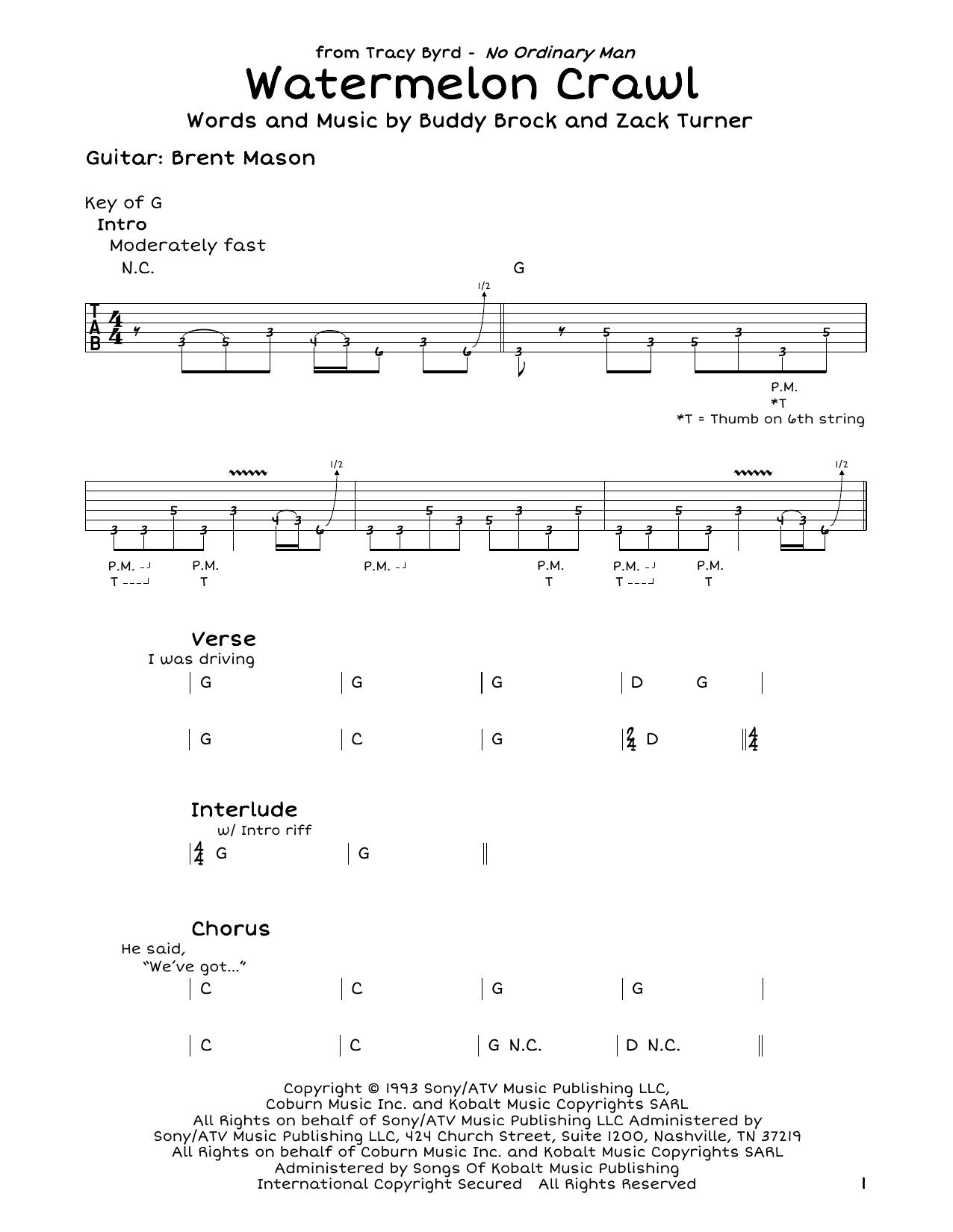 Watermelon Crawl Sheet Music