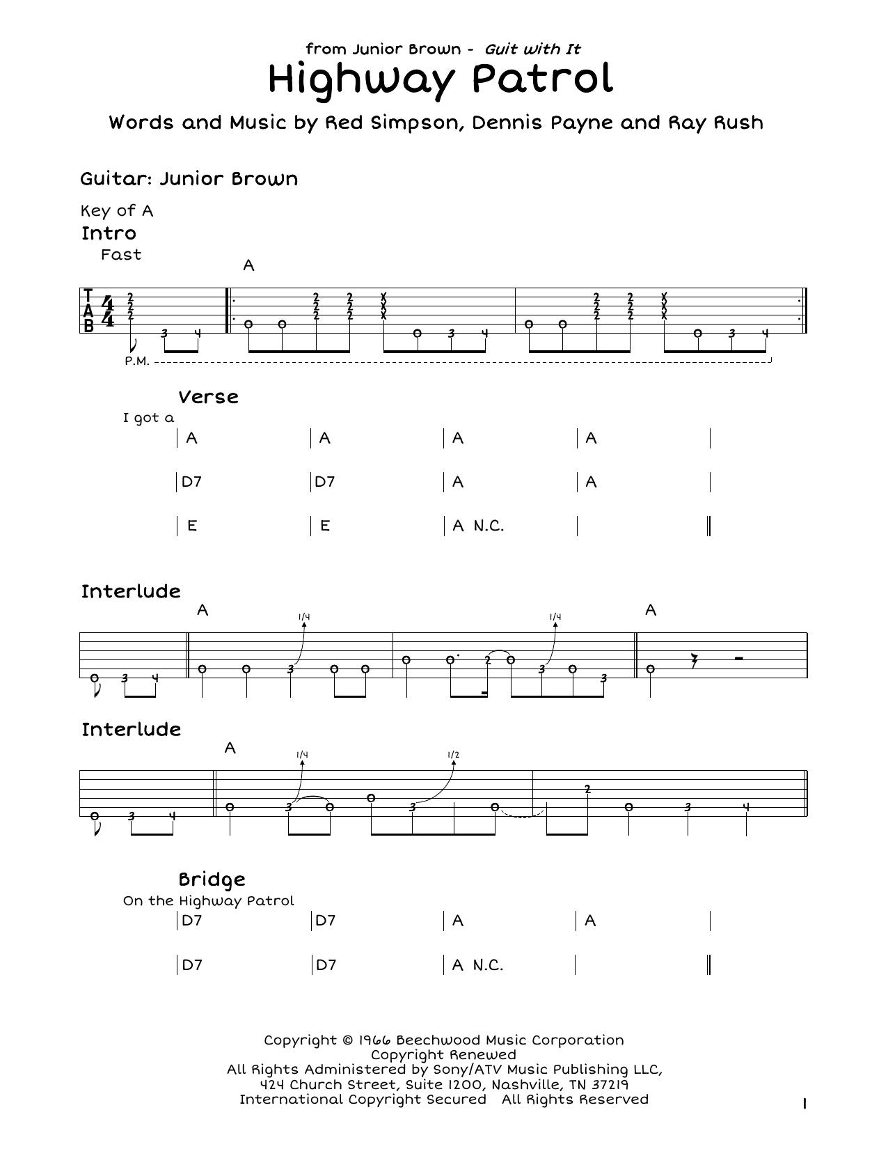 Highway Patrol Sheet Music