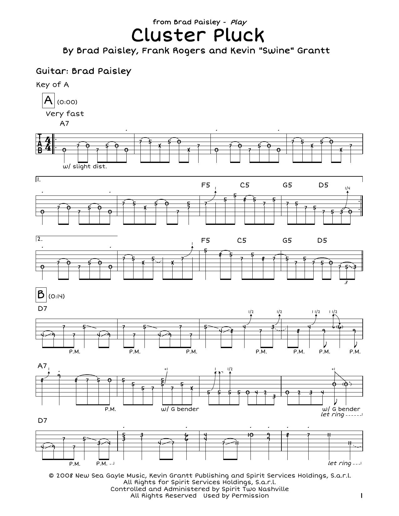 Cluster Pluck Sheet Music
