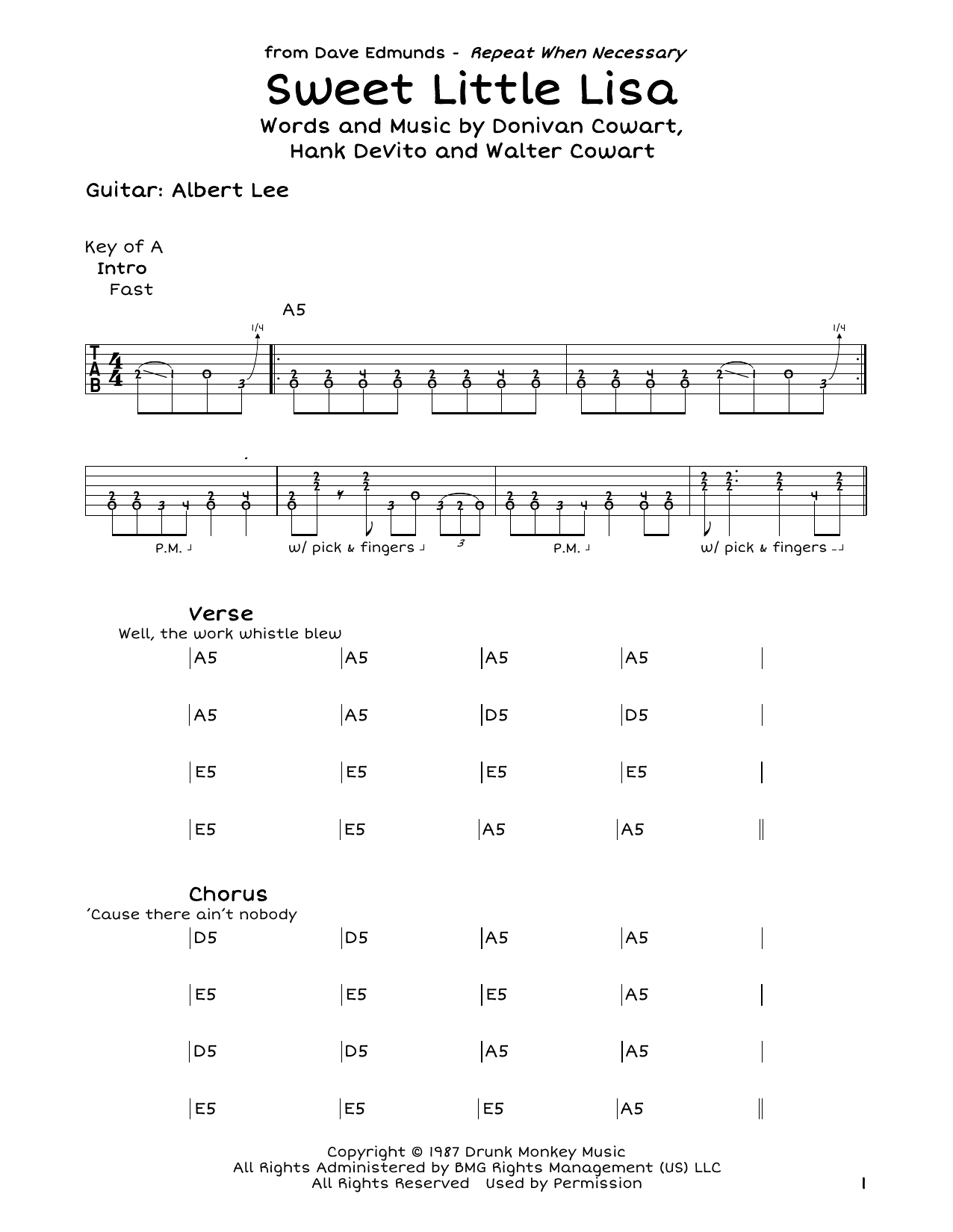 Sweet Little Lisa Sheet Music