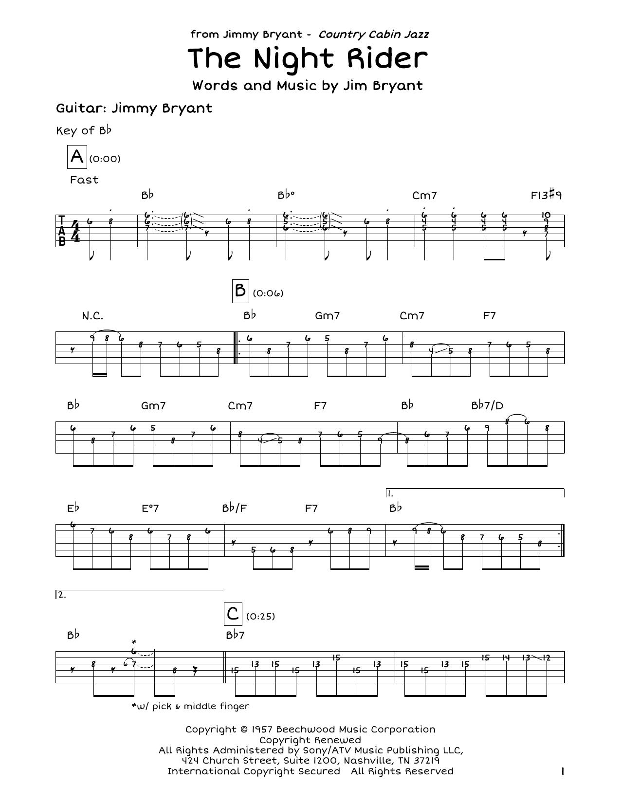 The Night Rider Sheet Music