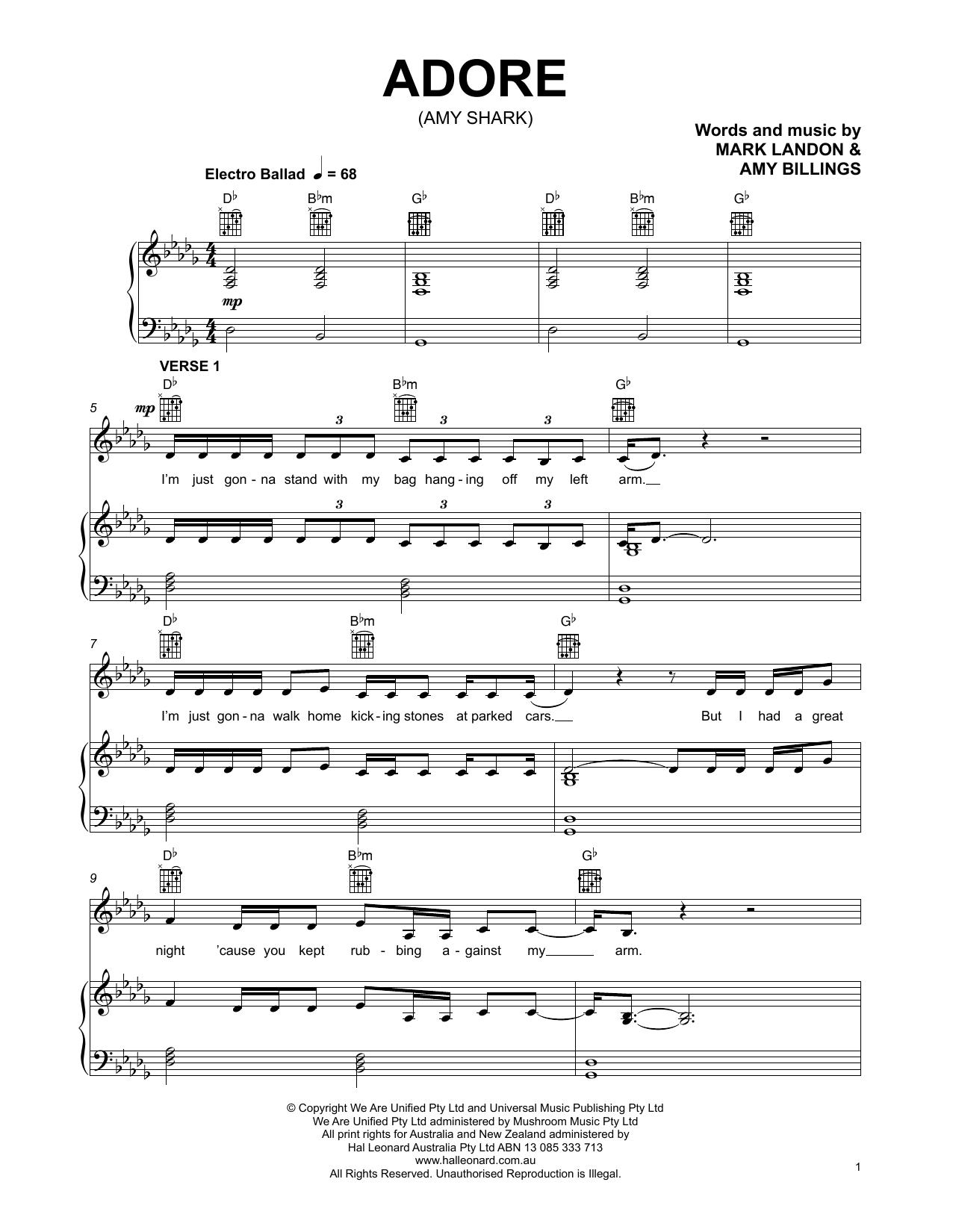 Adore Sheet Music