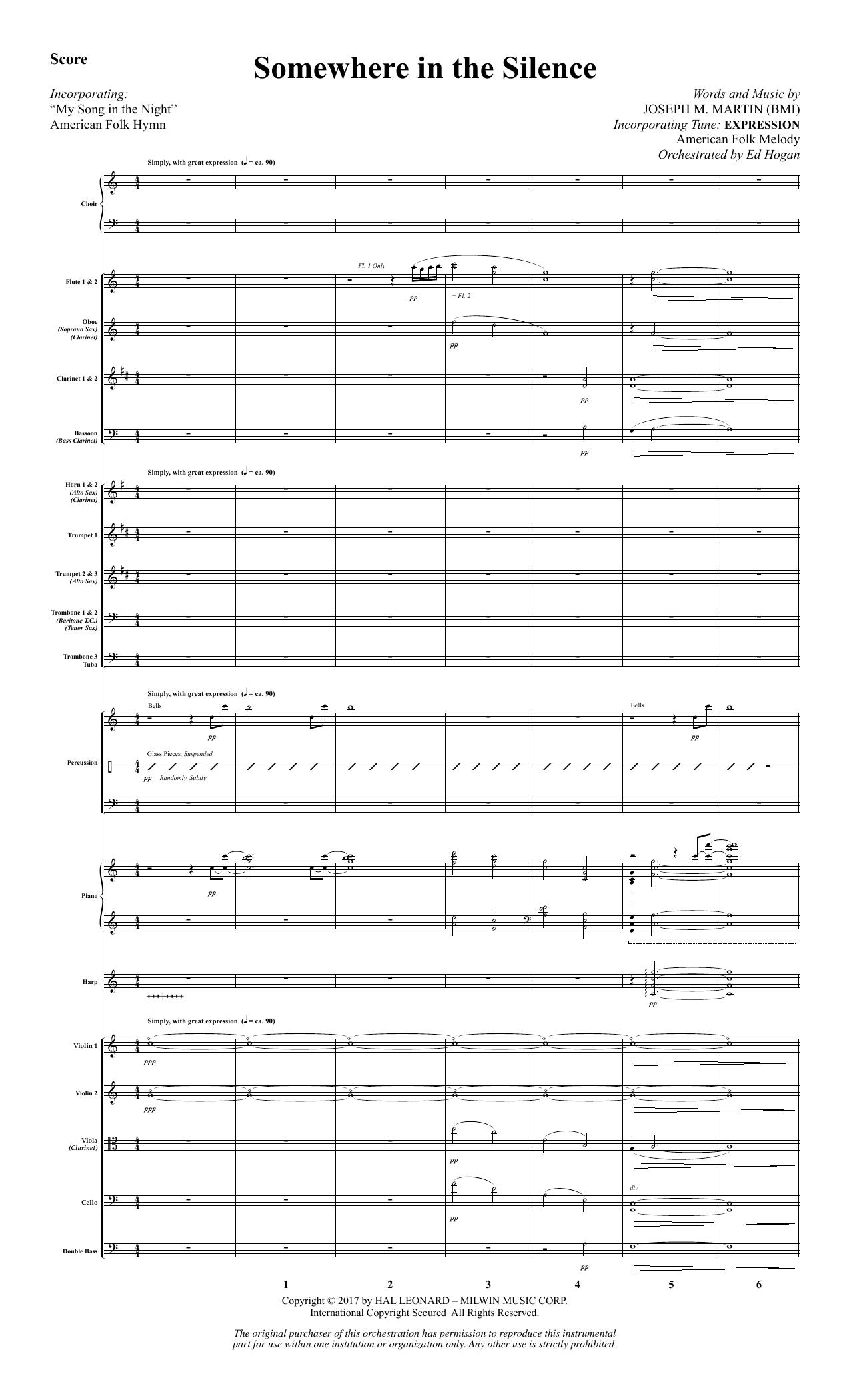 Somewhere in the Silence - Full Score (Choir Instrumental Pak)
