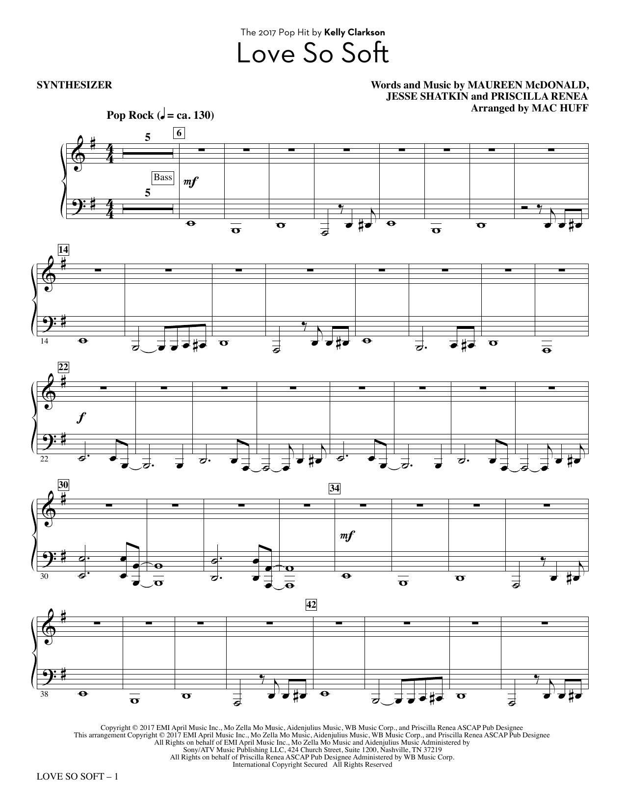 Love So Soft - Synthesizer (Choir Instrumental Pak)