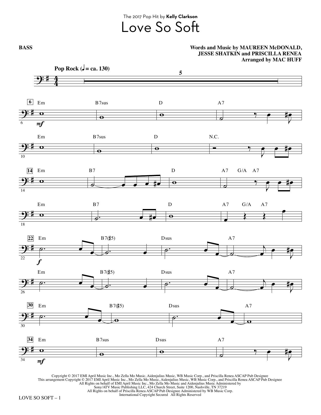 Love So Soft - Bass (Choir Instrumental Pak)