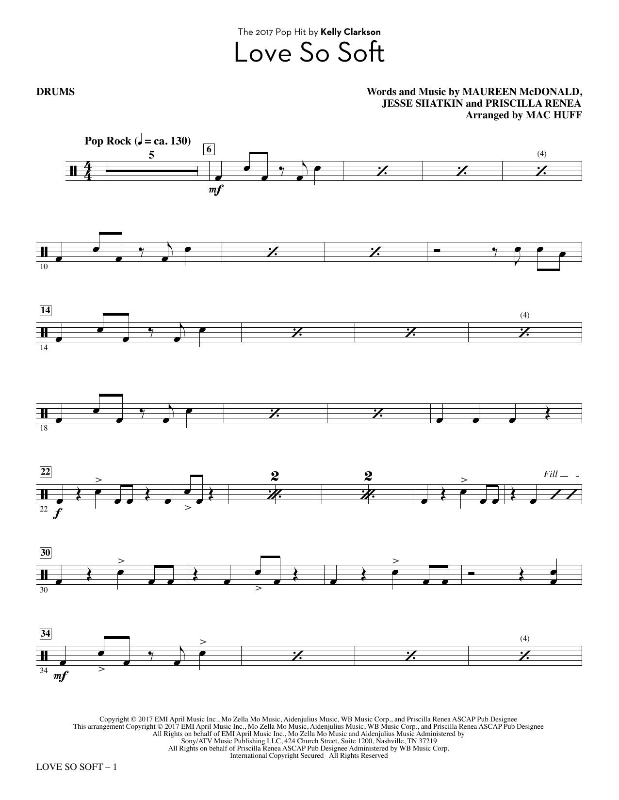 Love So Soft - Drums (Choir Instrumental Pak)
