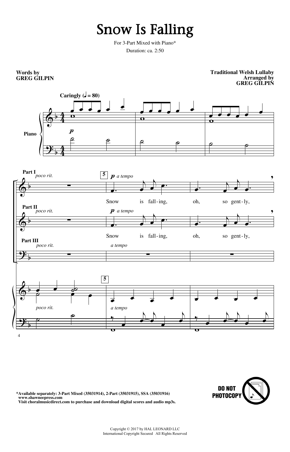 Snow Is Falling Sheet Music