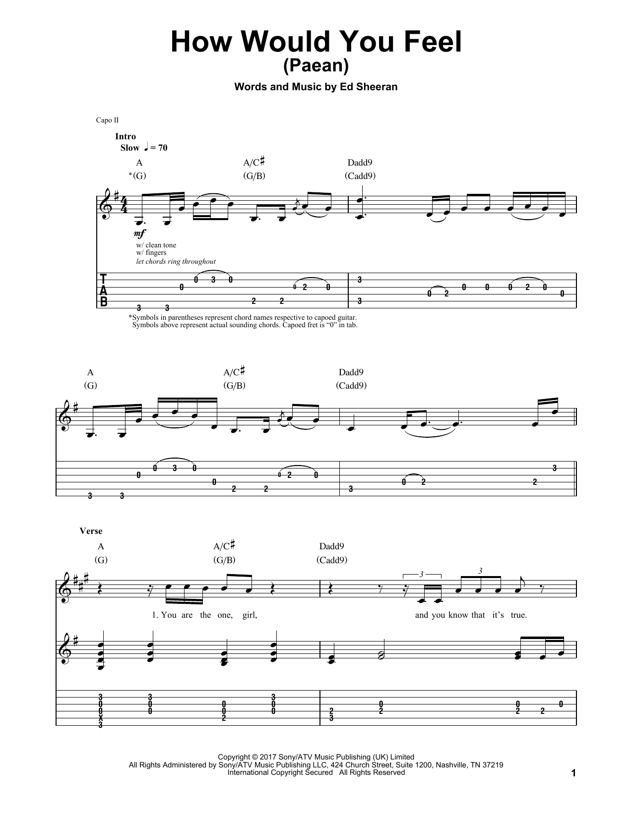 How Would You Feel (Paean) (Guitar Tab (Single Guitar))