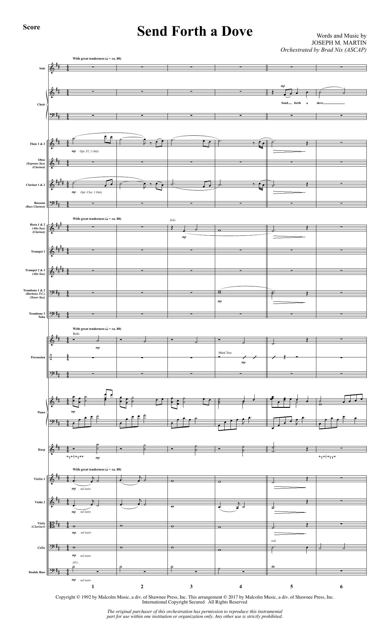 Send Forth a Dove - Full Score (Choir Instrumental Pak)