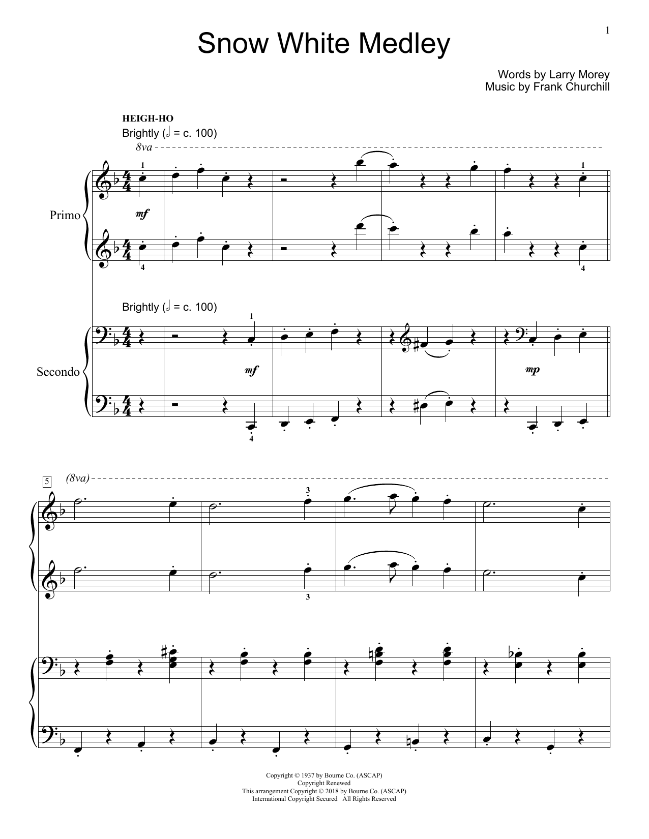 Snow White Medley Sheet Music
