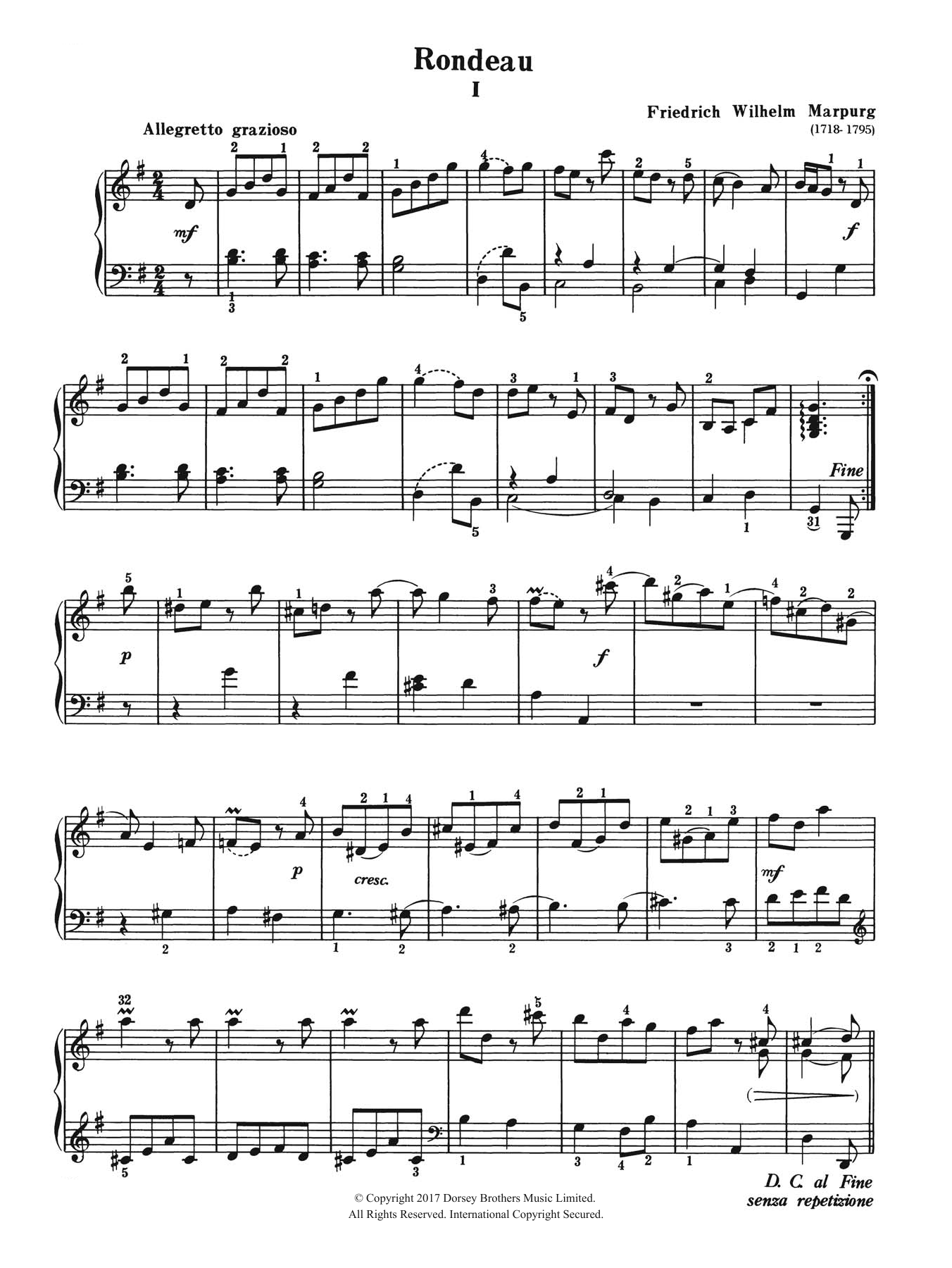 Rondeau Sheet Music