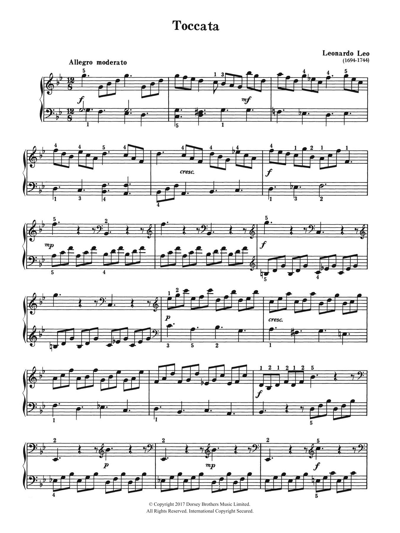 Toccata Sheet Music