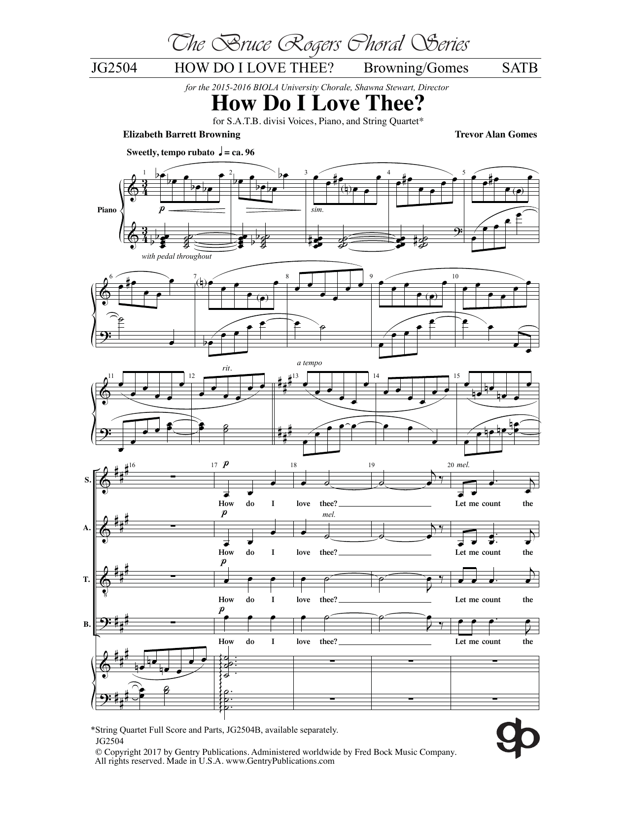How Do I Love Thee? Sheet Music