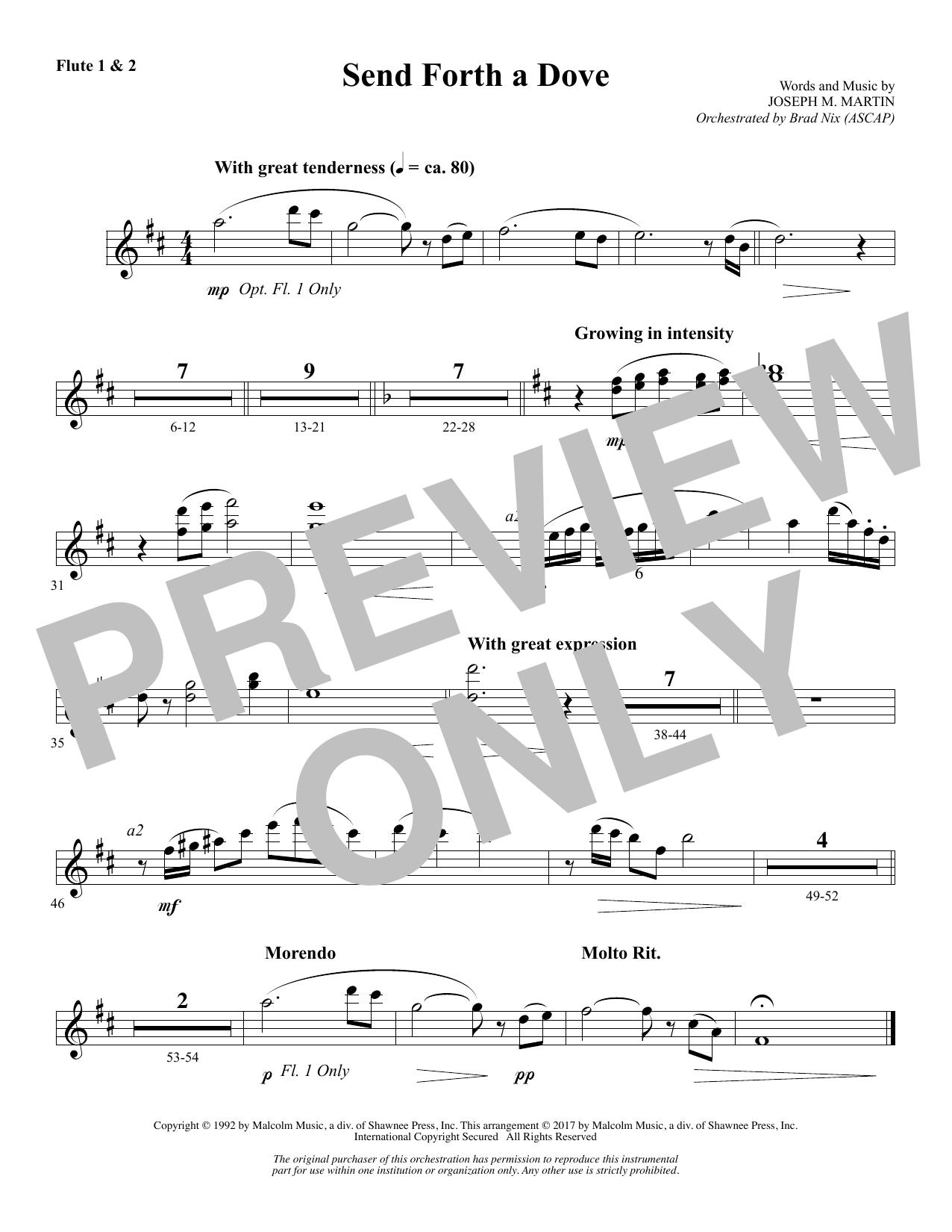 Send Forth a Dove - Flute 1 & 2 (Choir Instrumental Pak)