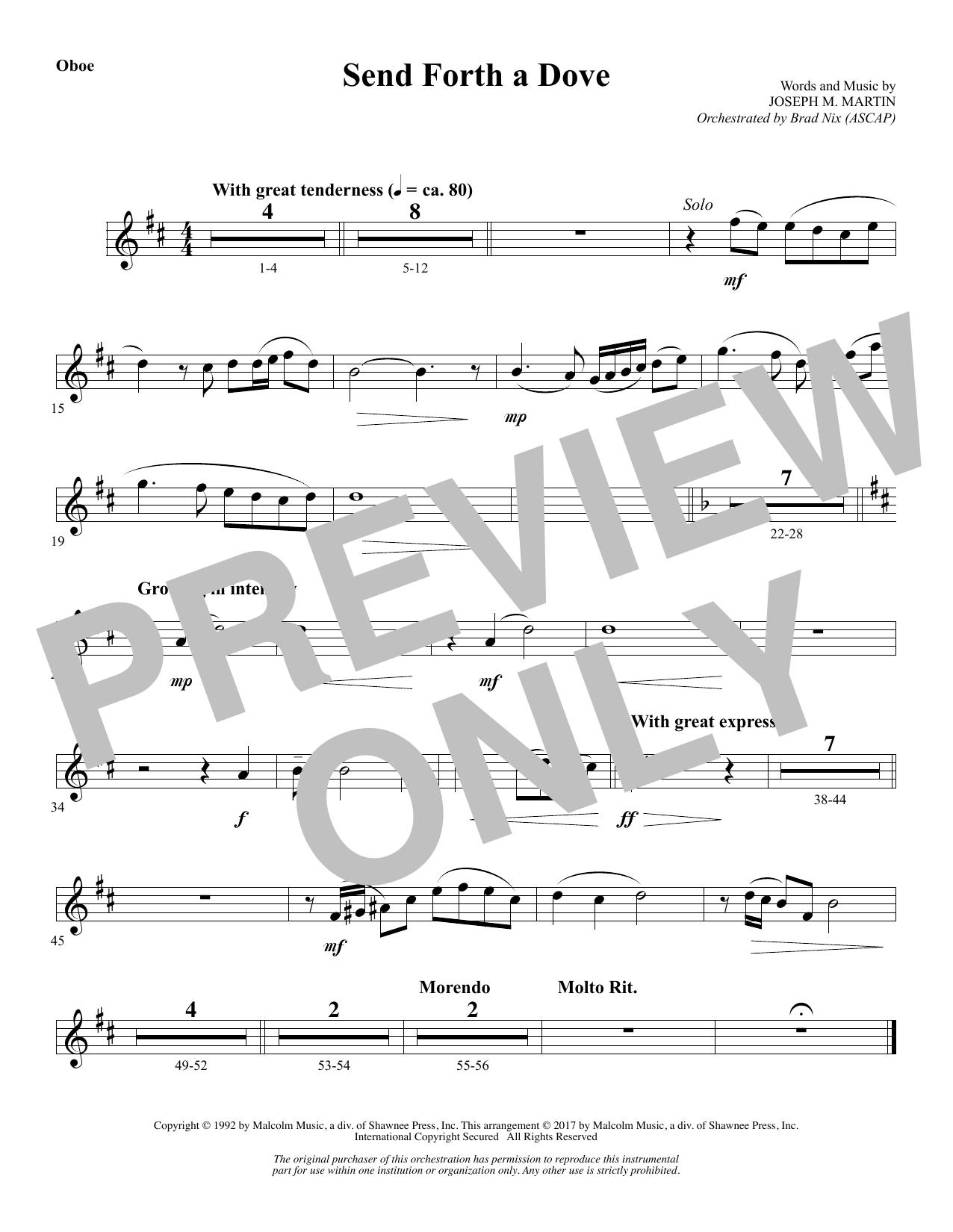 Send Forth a Dove - Oboe (Choir Instrumental Pak)