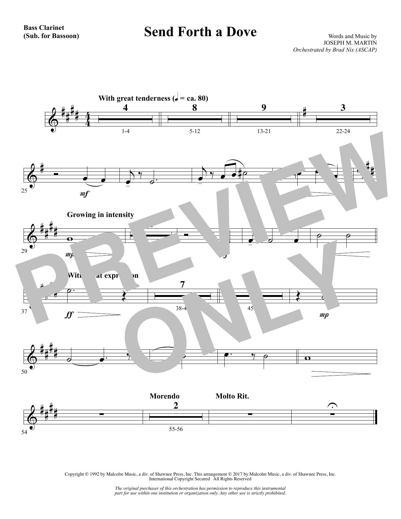 Send Forth a Dove - Bass Clarinet (sub. Bassoon) (Choir Instrumental Pak)