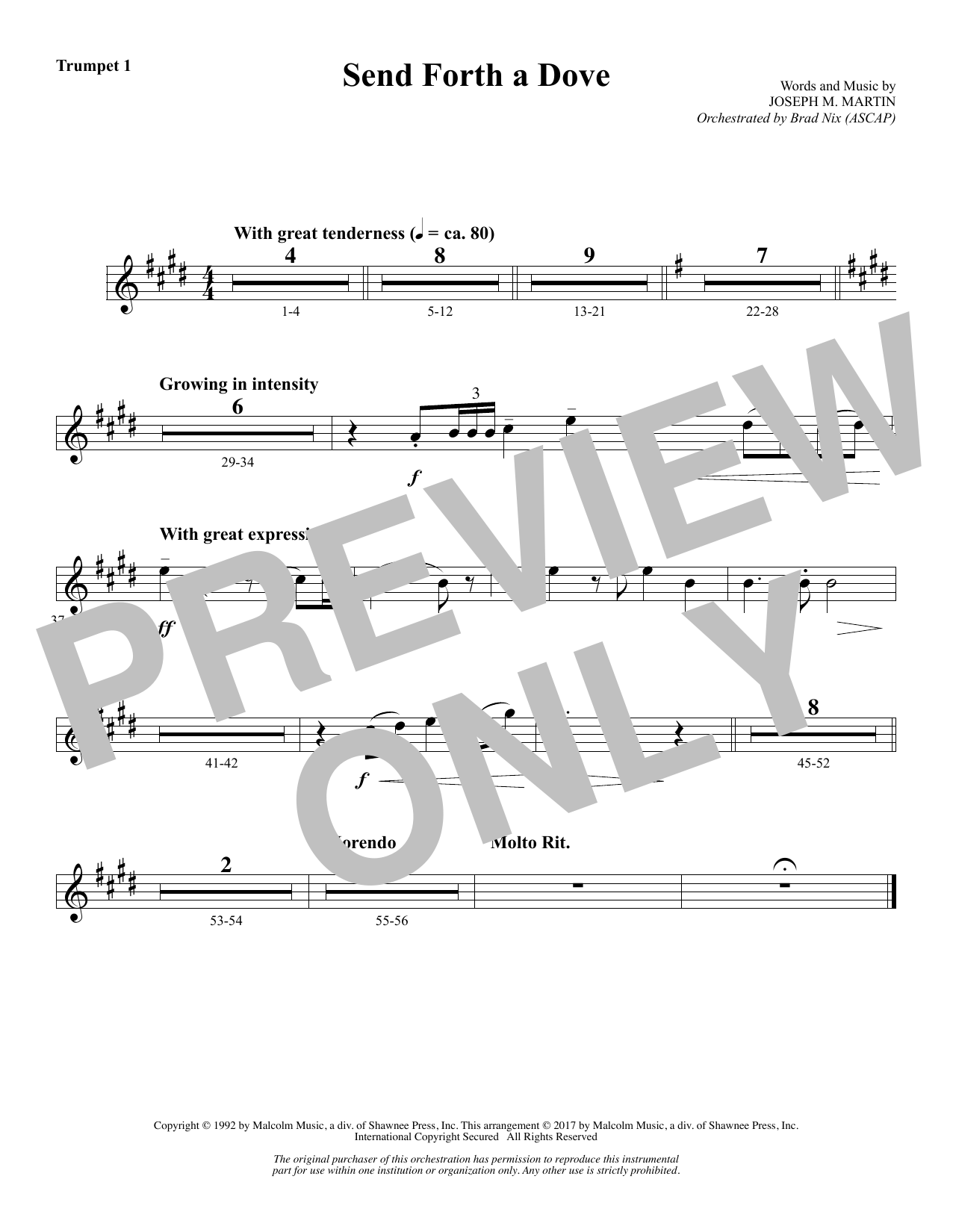 Send Forth a Dove - Bb Trumpet 1 (Choir Instrumental Pak)