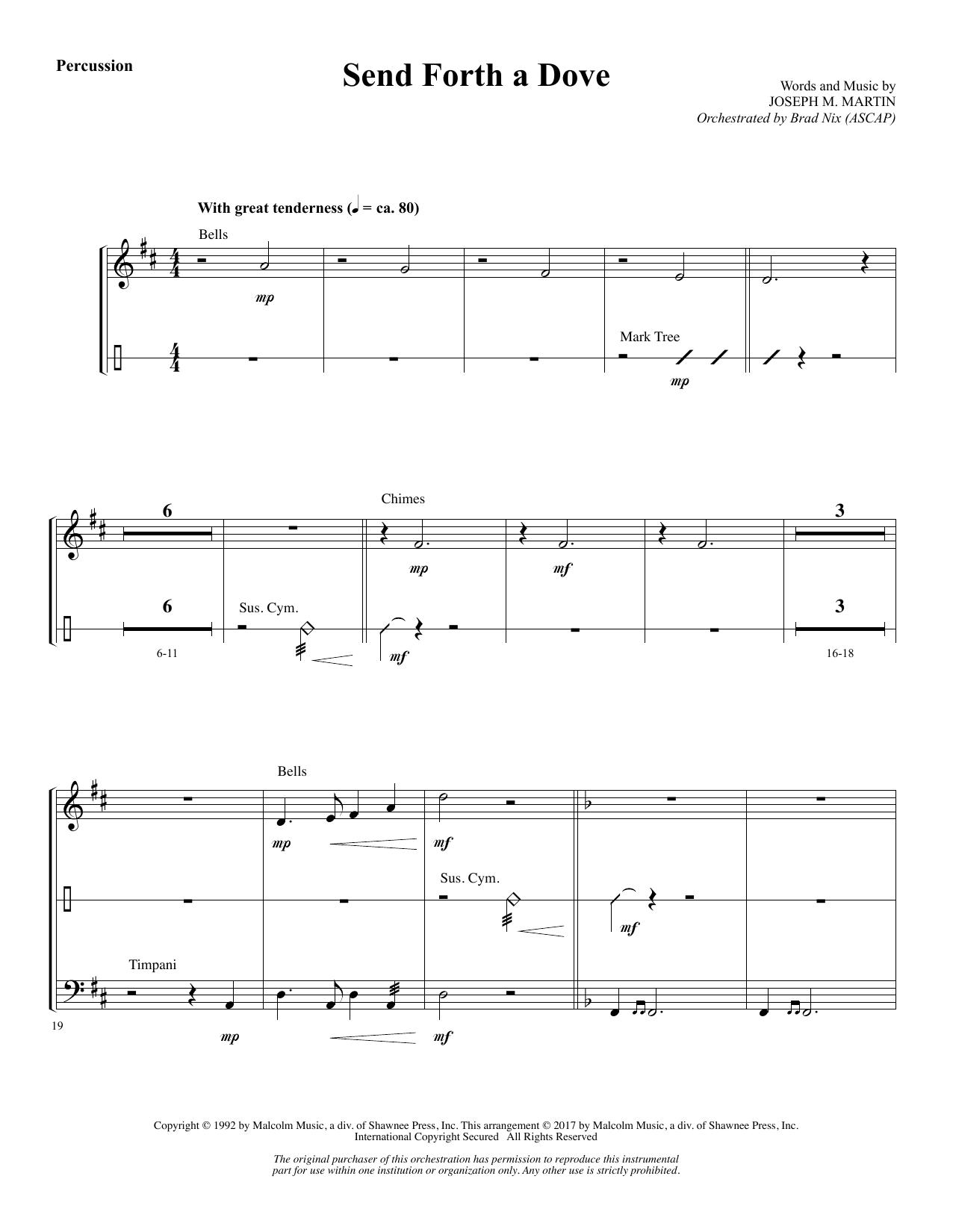 Send Forth a Dove - Percussion (Choir Instrumental Pak)
