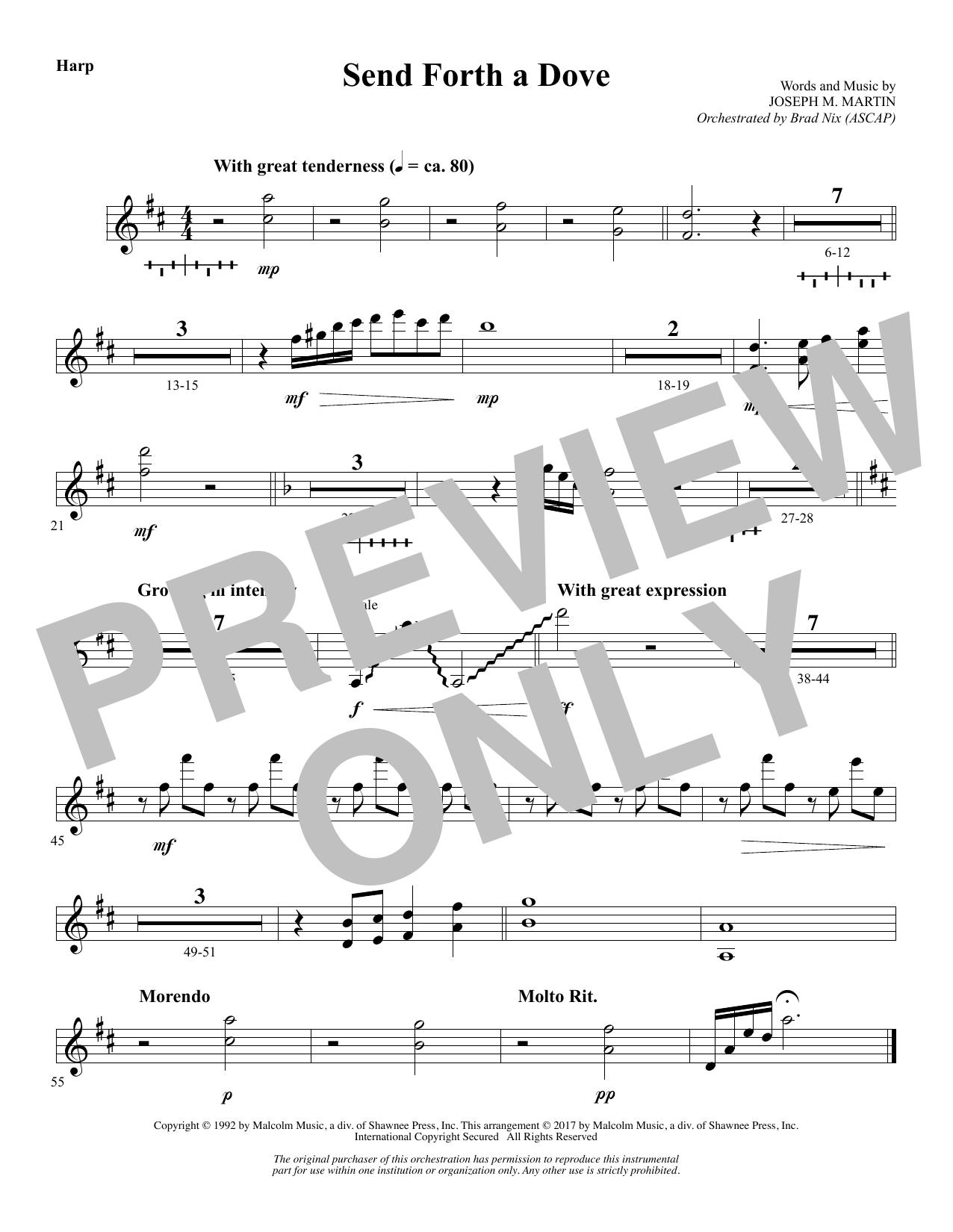 Send Forth a Dove - Harp (Choir Instrumental Pak)