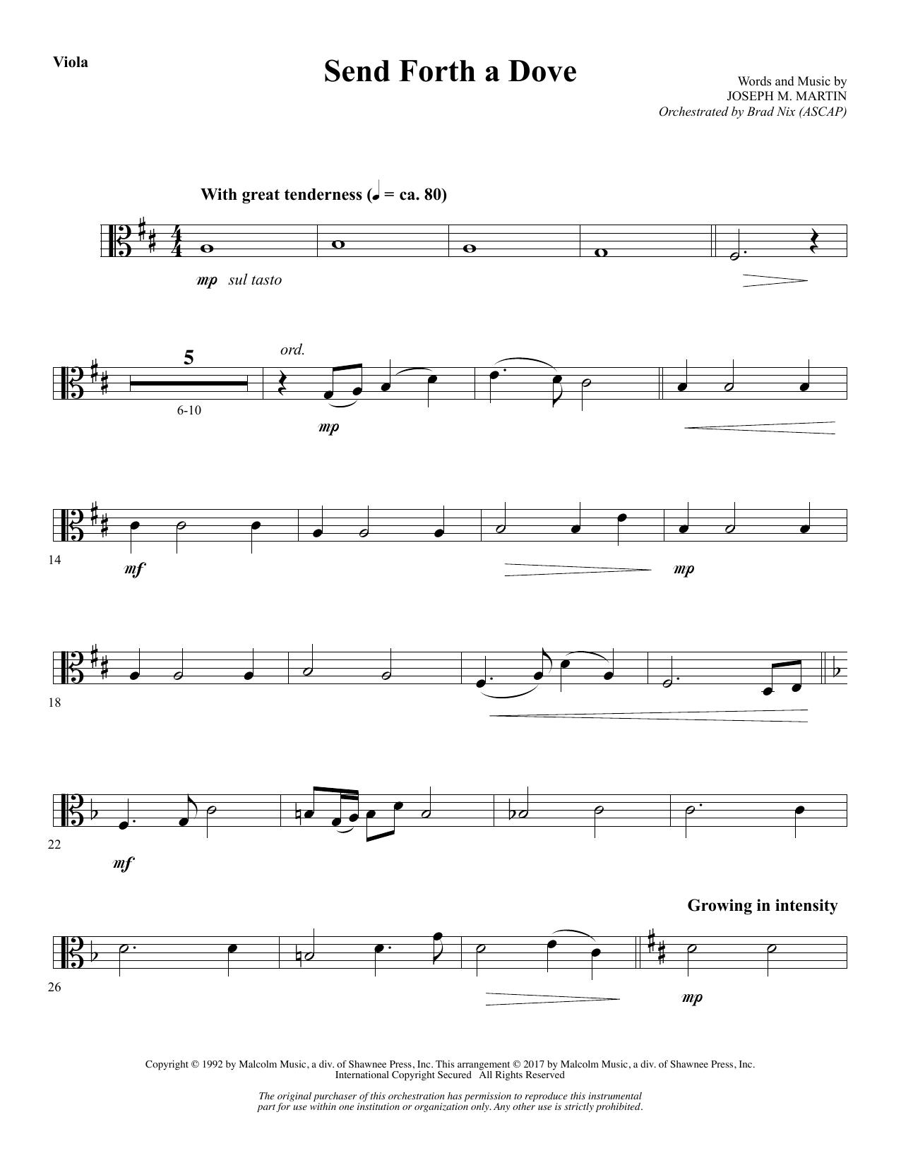 Send Forth a Dove - Viola (Choir Instrumental Pak)