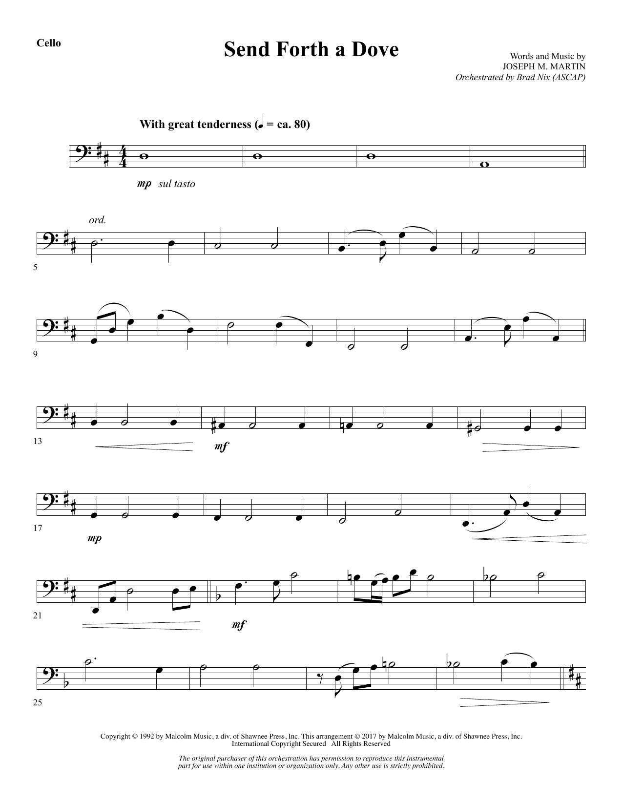 Send Forth a Dove - Cello (Choir Instrumental Pak)