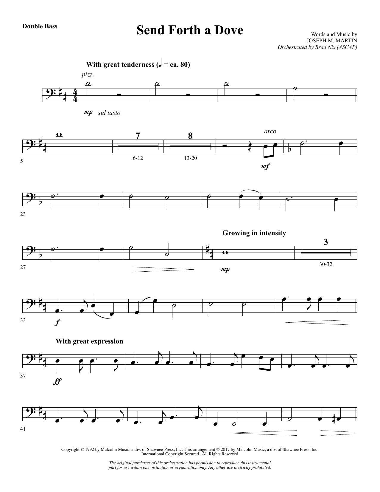 Send Forth a Dove - Double Bass (Choir Instrumental Pak)