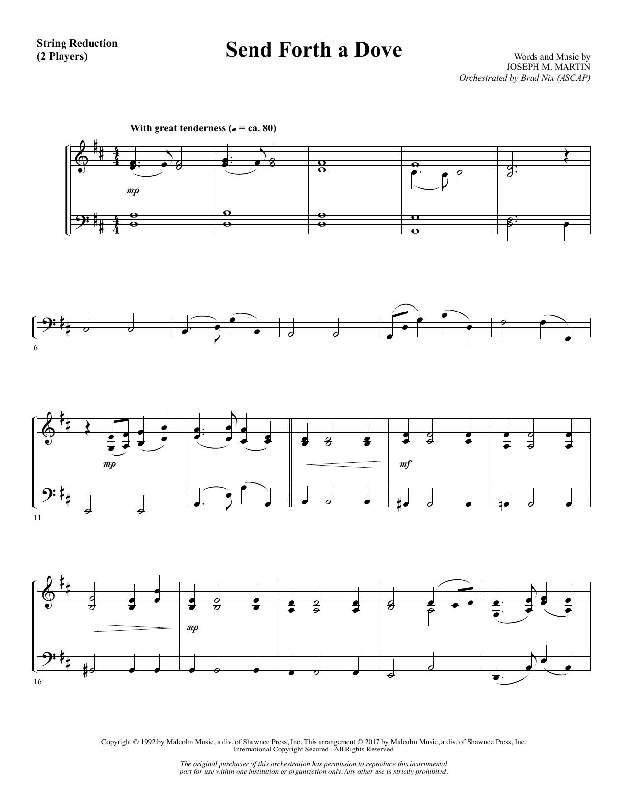 Send Forth a Dove - Keyboard String Reduction (Choir Instrumental Pak)