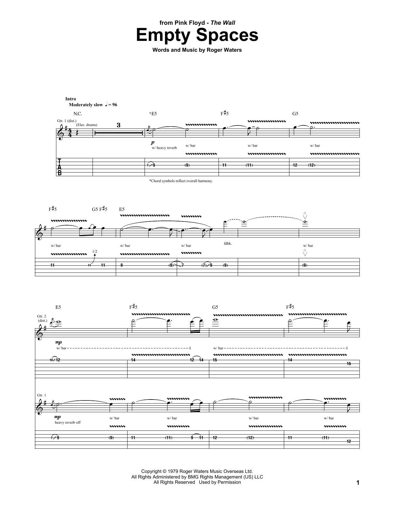 Empty Spaces Sheet Music