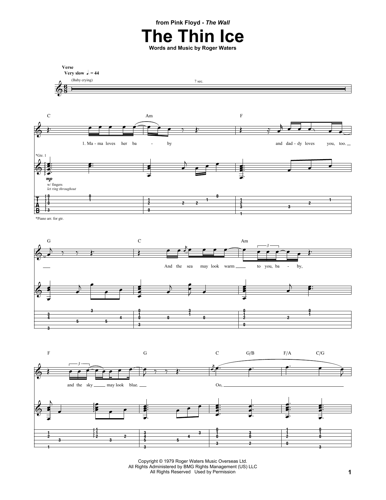 The Thin Ice Sheet Music