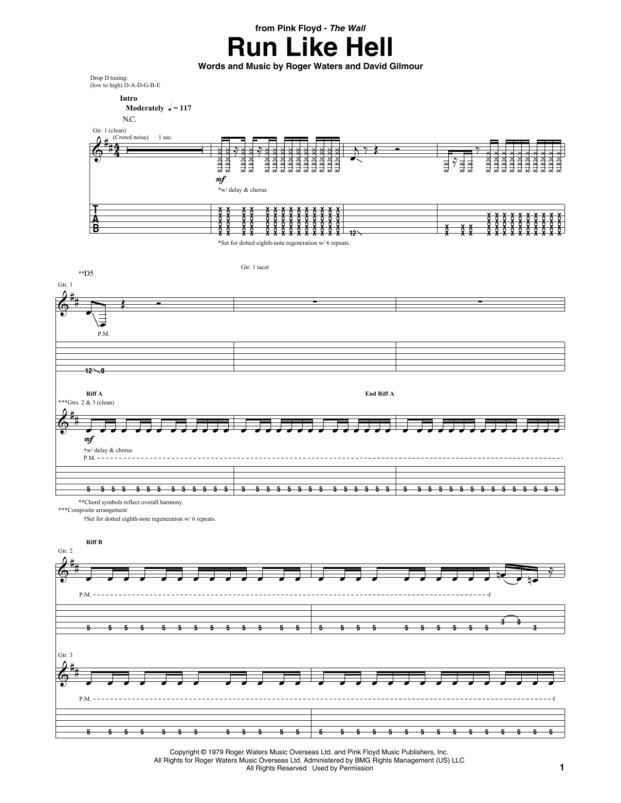Run Like Hell Sheet Music