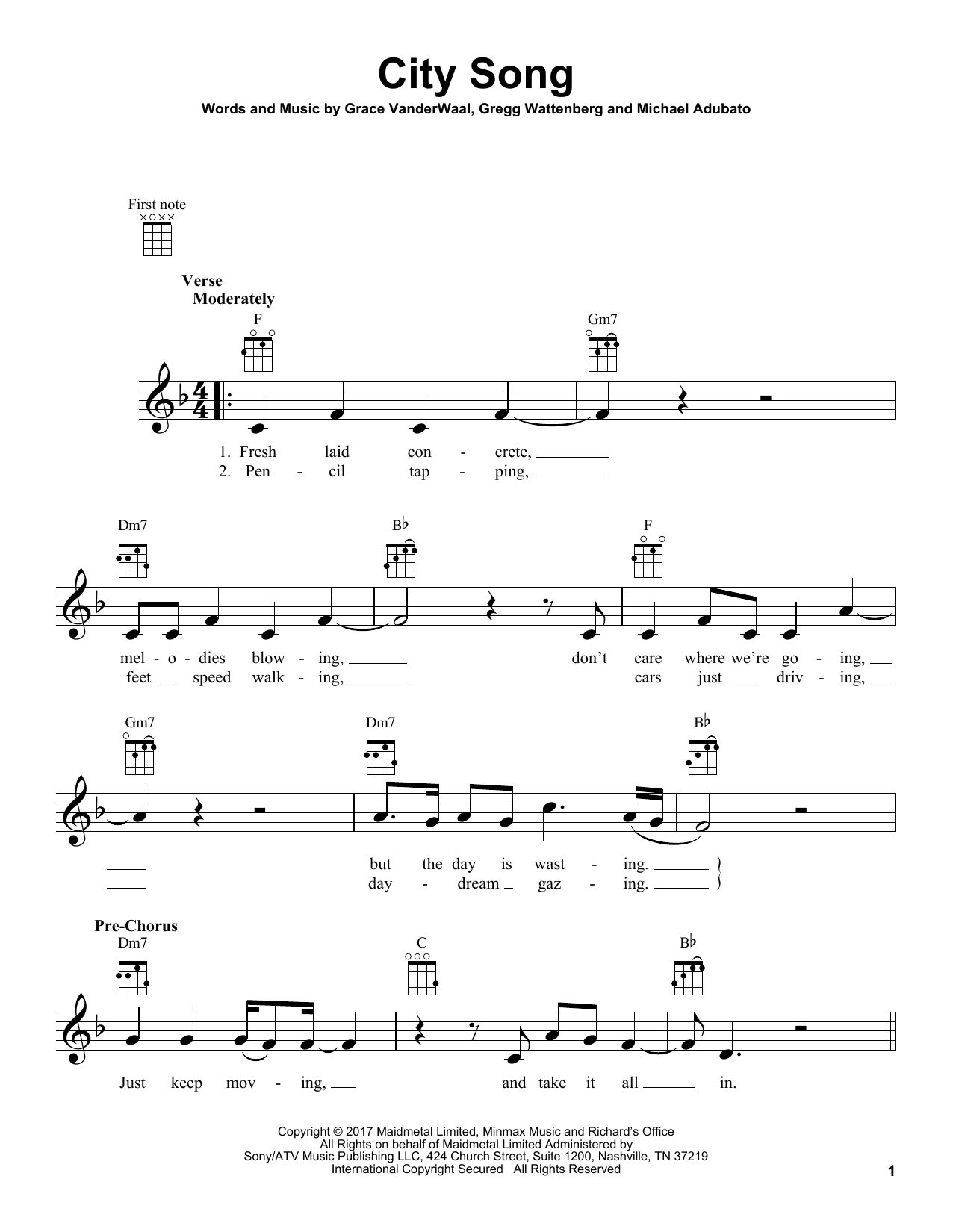 office piano sheet music