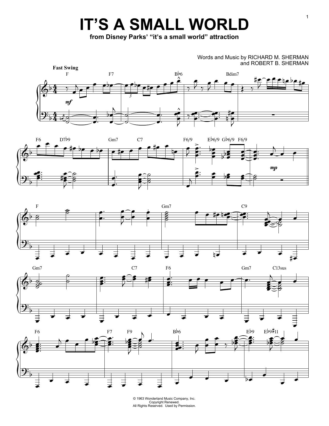 It's A Small World [Jazz version] (Piano Solo)