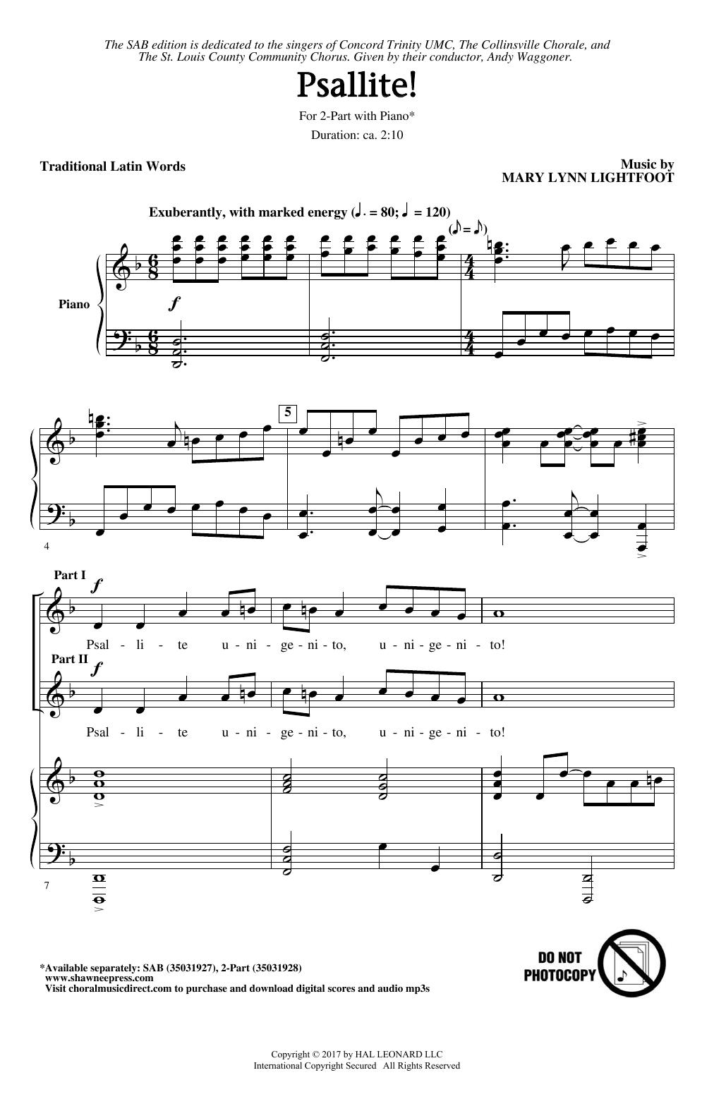 Psallite! Sheet Music