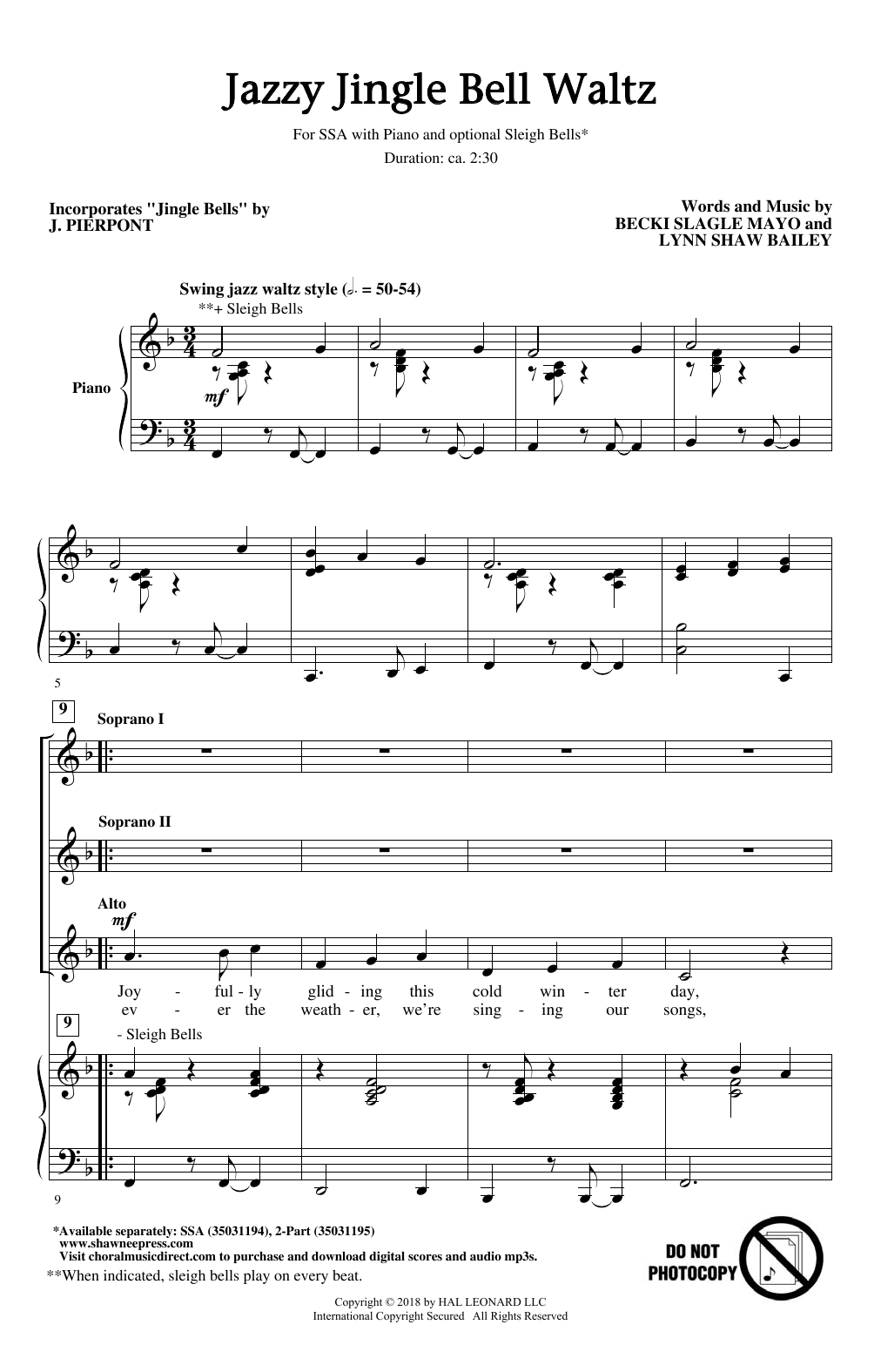 Jazzy Jingle Bell Waltz Sheet Music