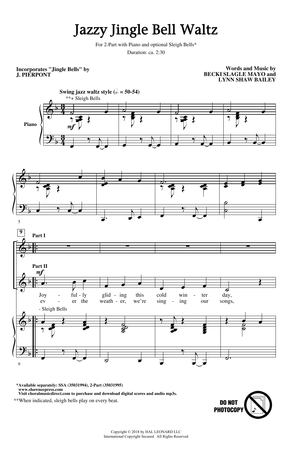 Jazzy Jingle Bell Waltz (2-Part Choir)