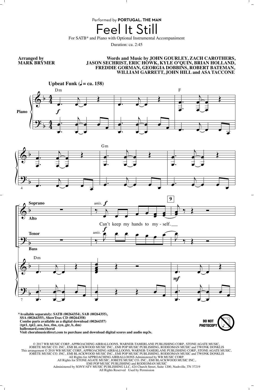 Feel It Still (arr. Mark Brymer) Sheet Music