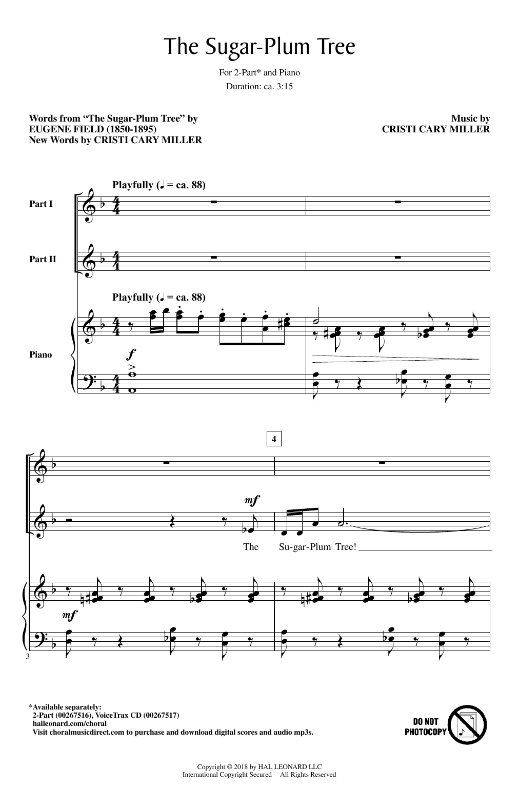 The Sugar-Plum Tree Sheet Music
