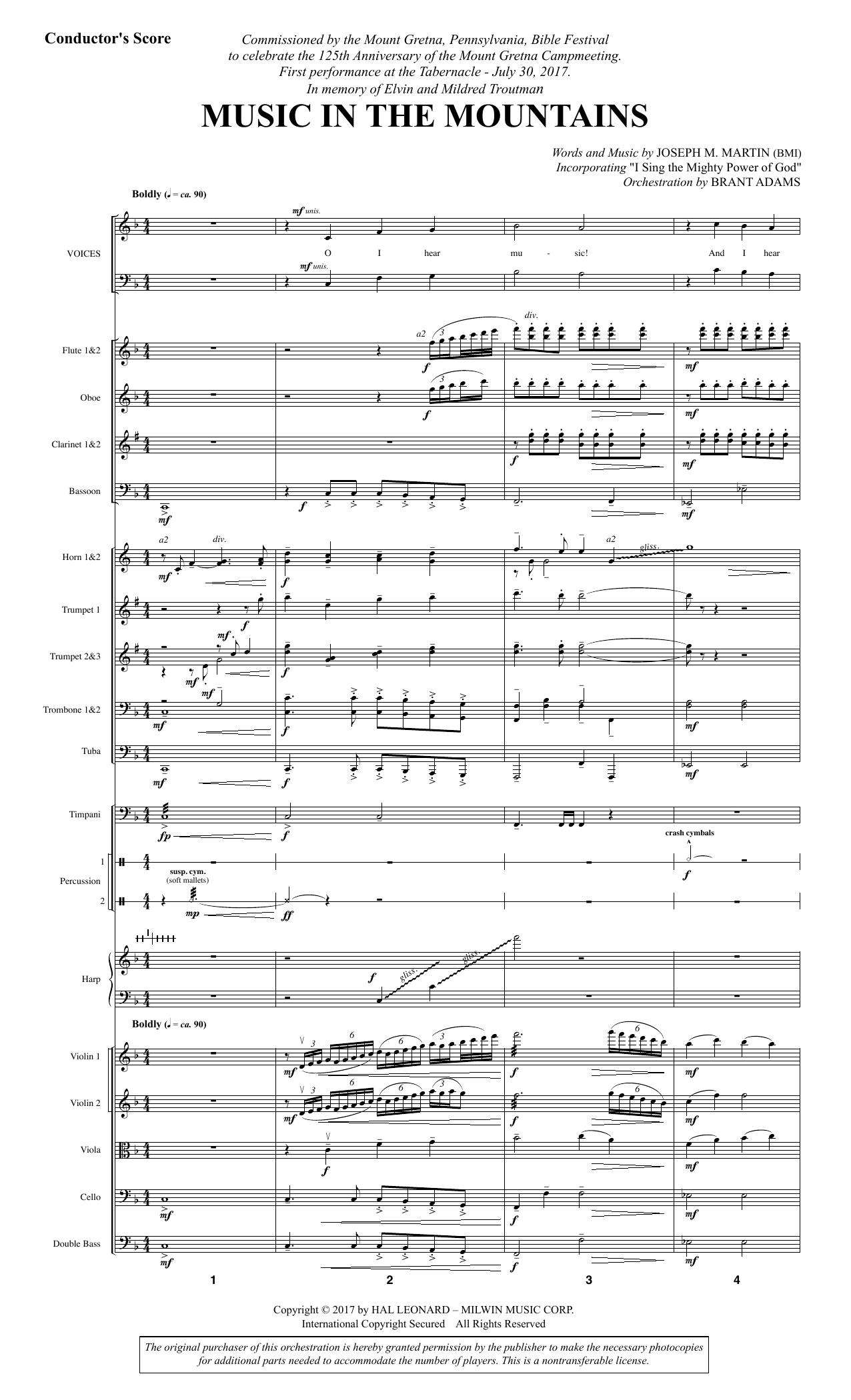 Music in the Mountains - Full Score (Choir Instrumental Pak)